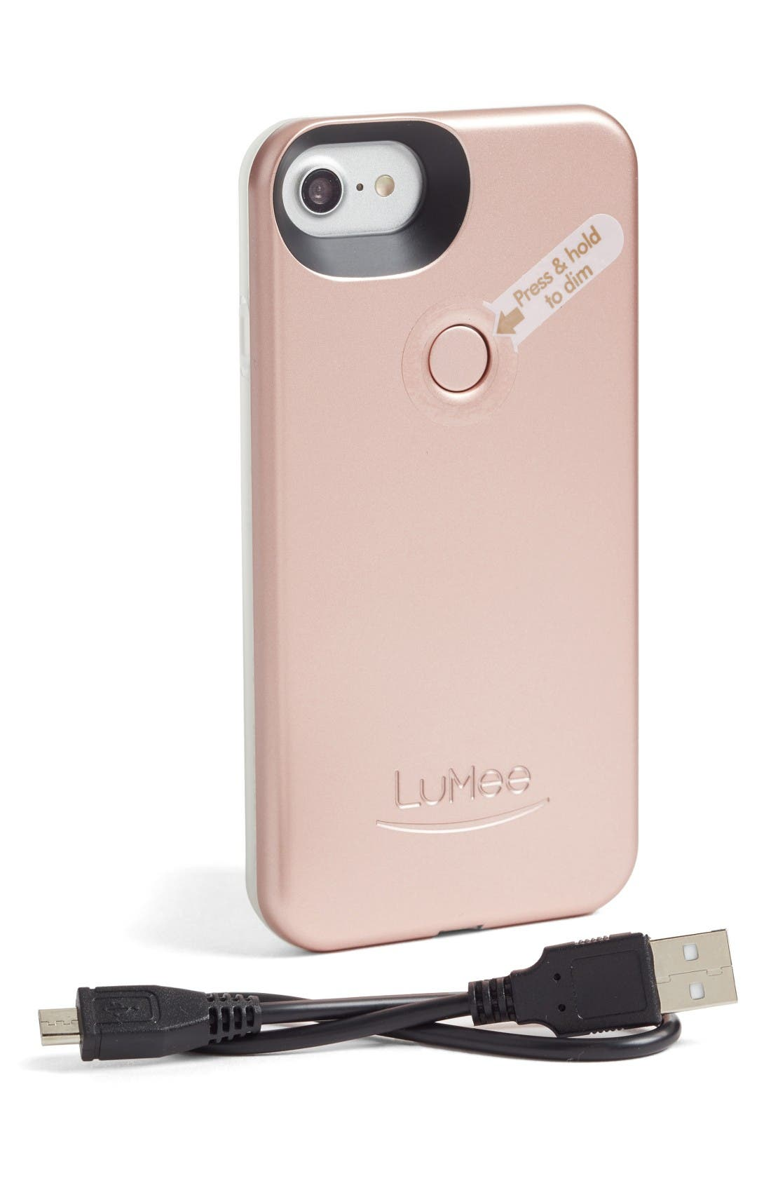 II Lighted iPhone 6/7/8 & 6/7/8 Plus Case,                             Alternate thumbnail 3, color,                             Rose Matte
