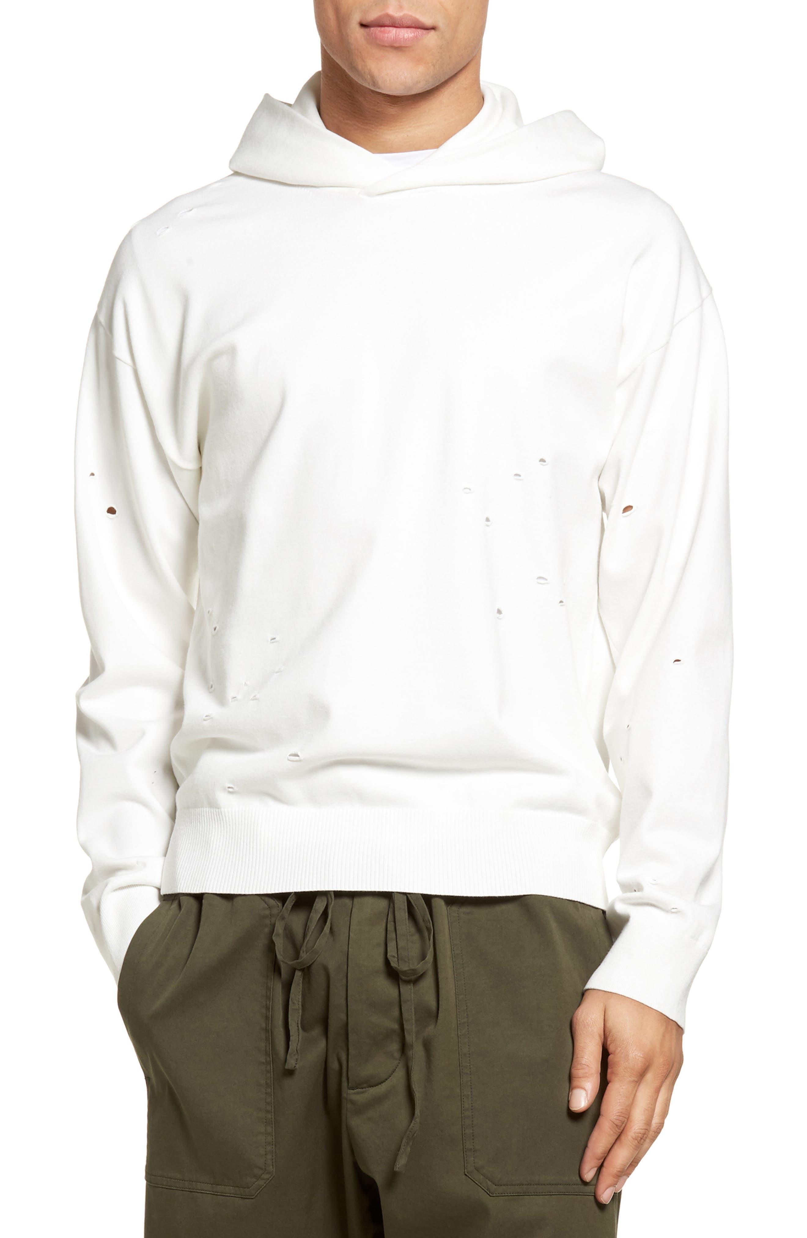 Alternate Image 1 Selected - Vince Distressed Pullover Hoodie