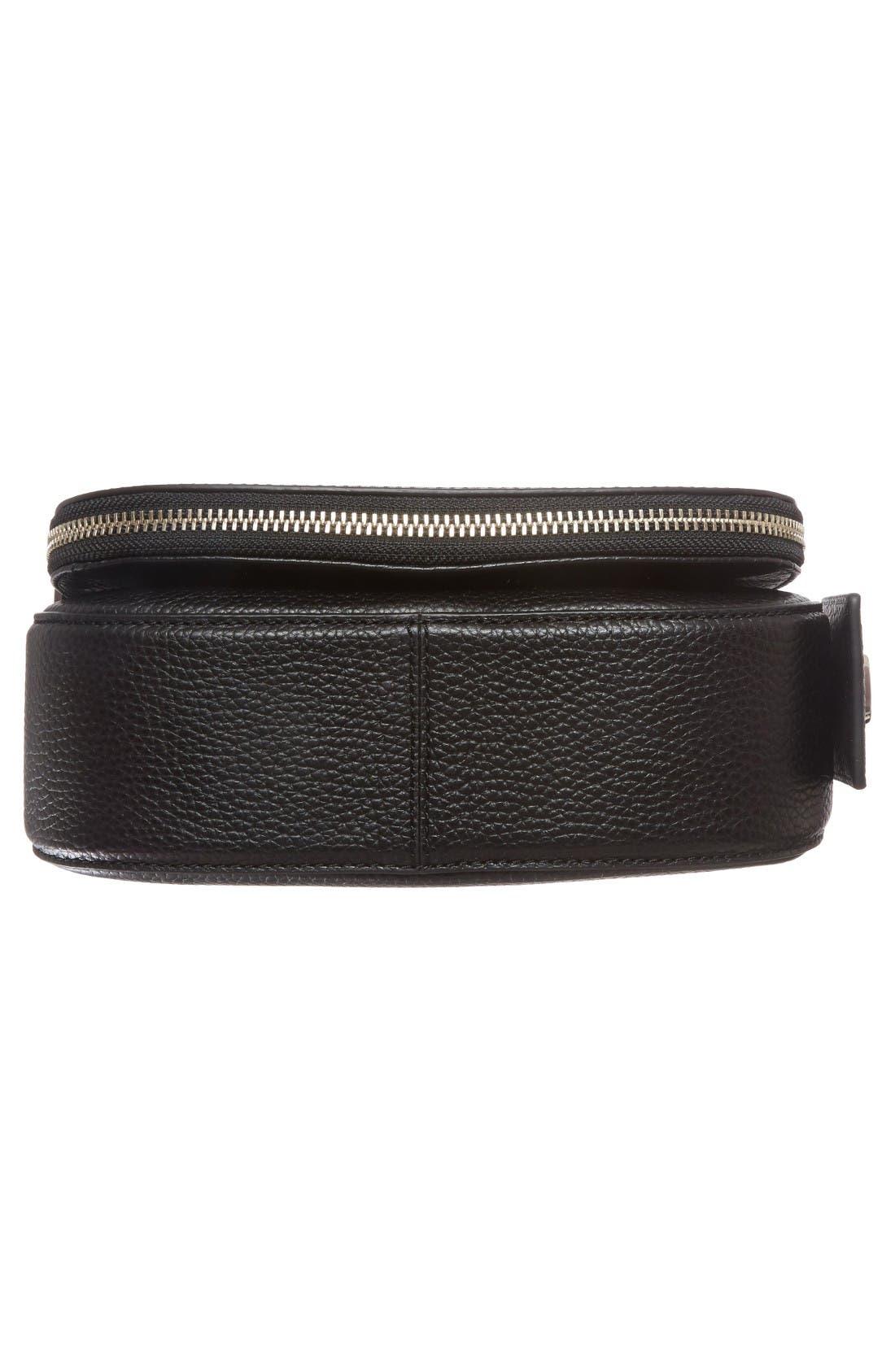 Small Nomad Gotham Leather Crossbody Bag,                             Alternate thumbnail 6, color,                             Black