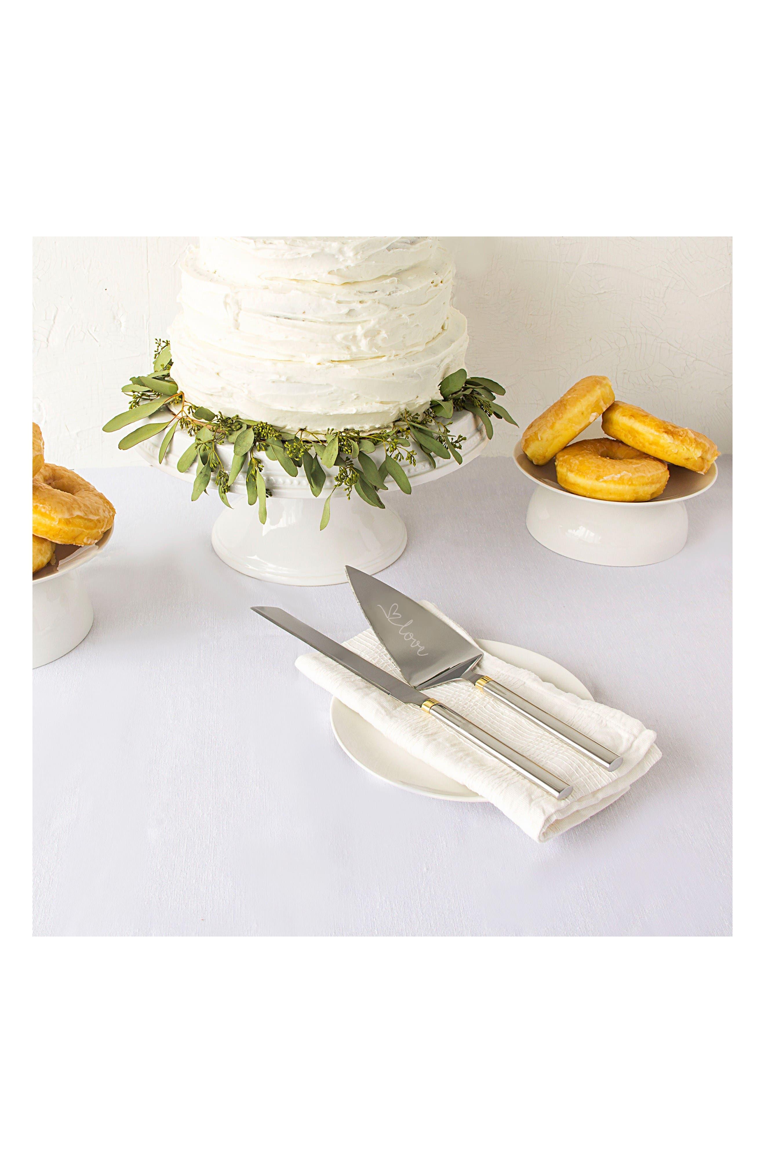 Alternate Image 5  - Cathy's Concepts Golden Love Cake Server Set