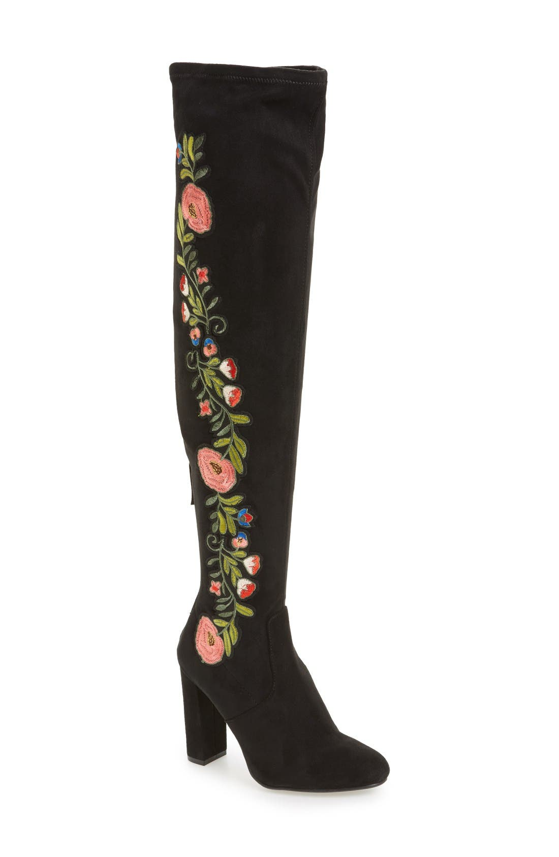 Alternate Image 1 Selected - Steve Madden Envoke Over the Knee Stretch Boot (Women)