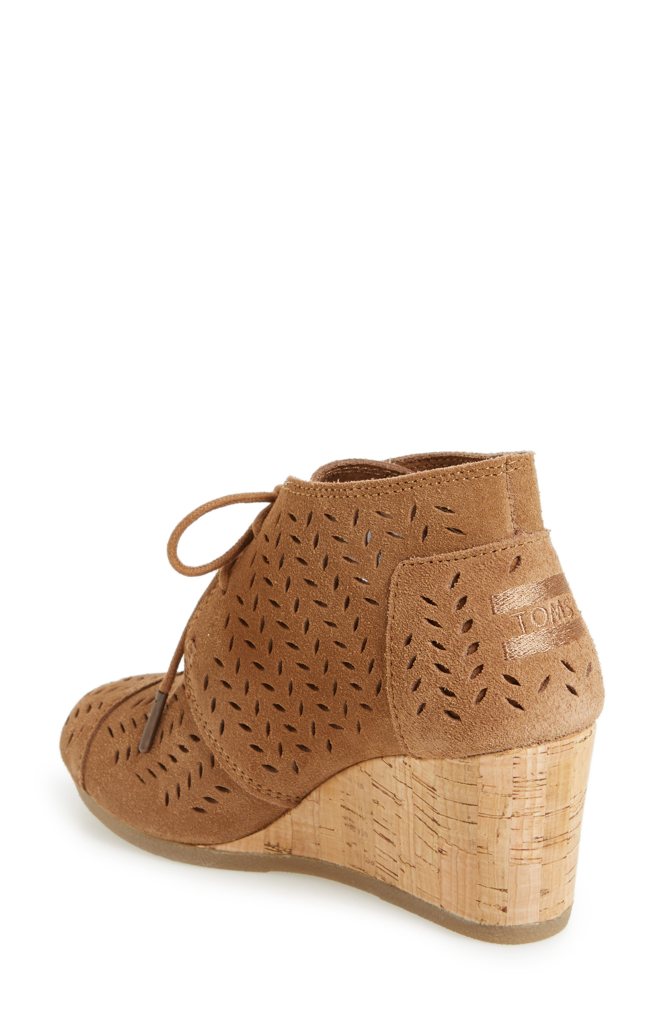 Alternate Image 2  - TOMS Perforated Chukka Wedge Boot (Women)