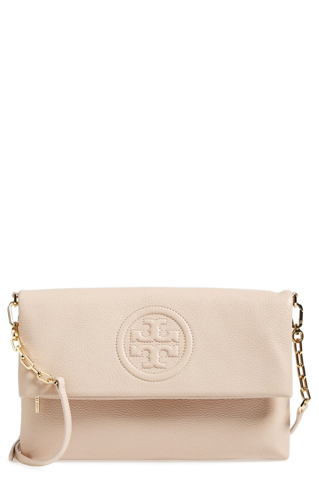Main Image - Tory Burch 'Bombe' Foldover Clutch