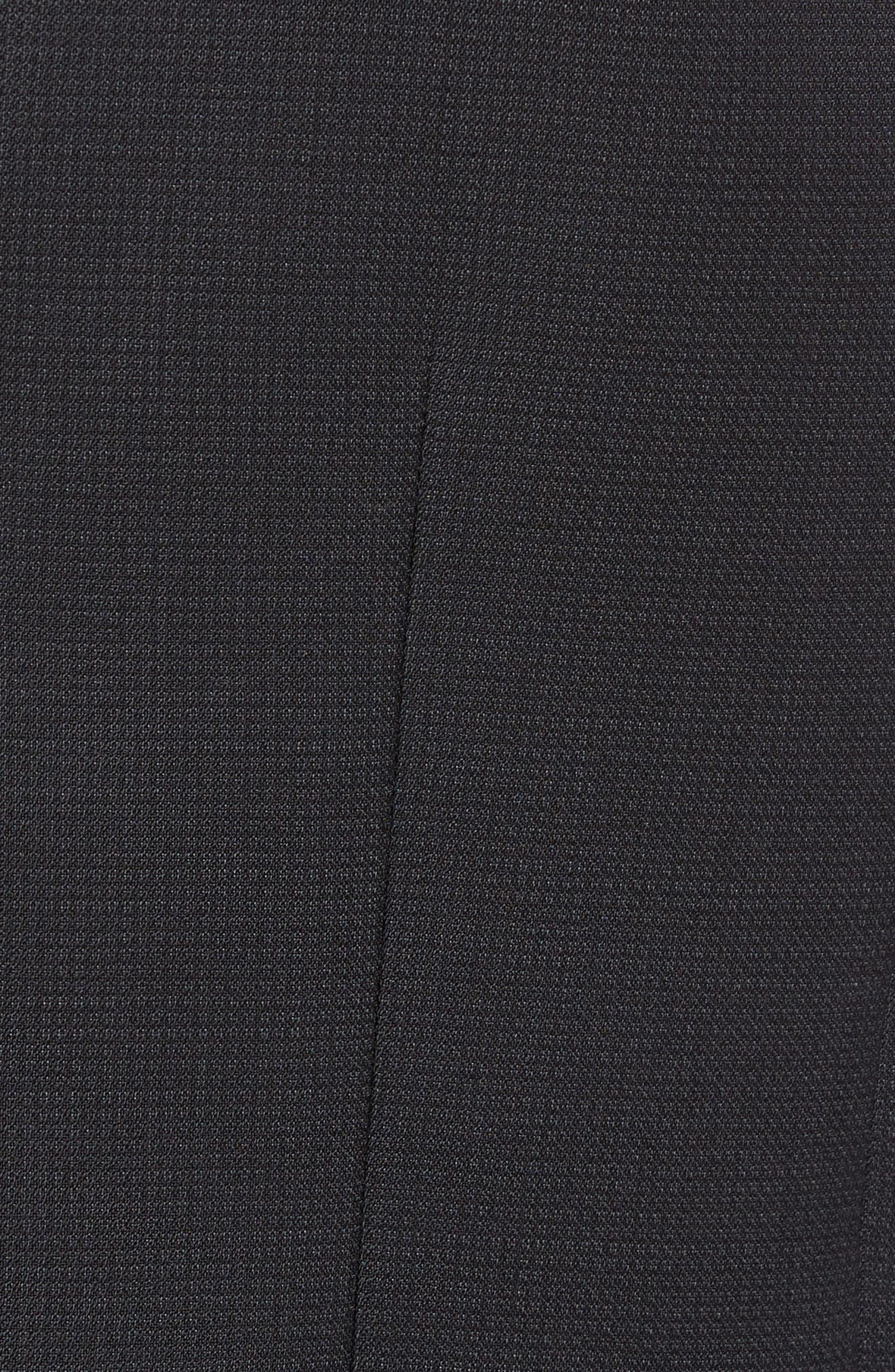 Huge Weste Trim Fit Wool Vest,                             Alternate thumbnail 5, color,                             Black