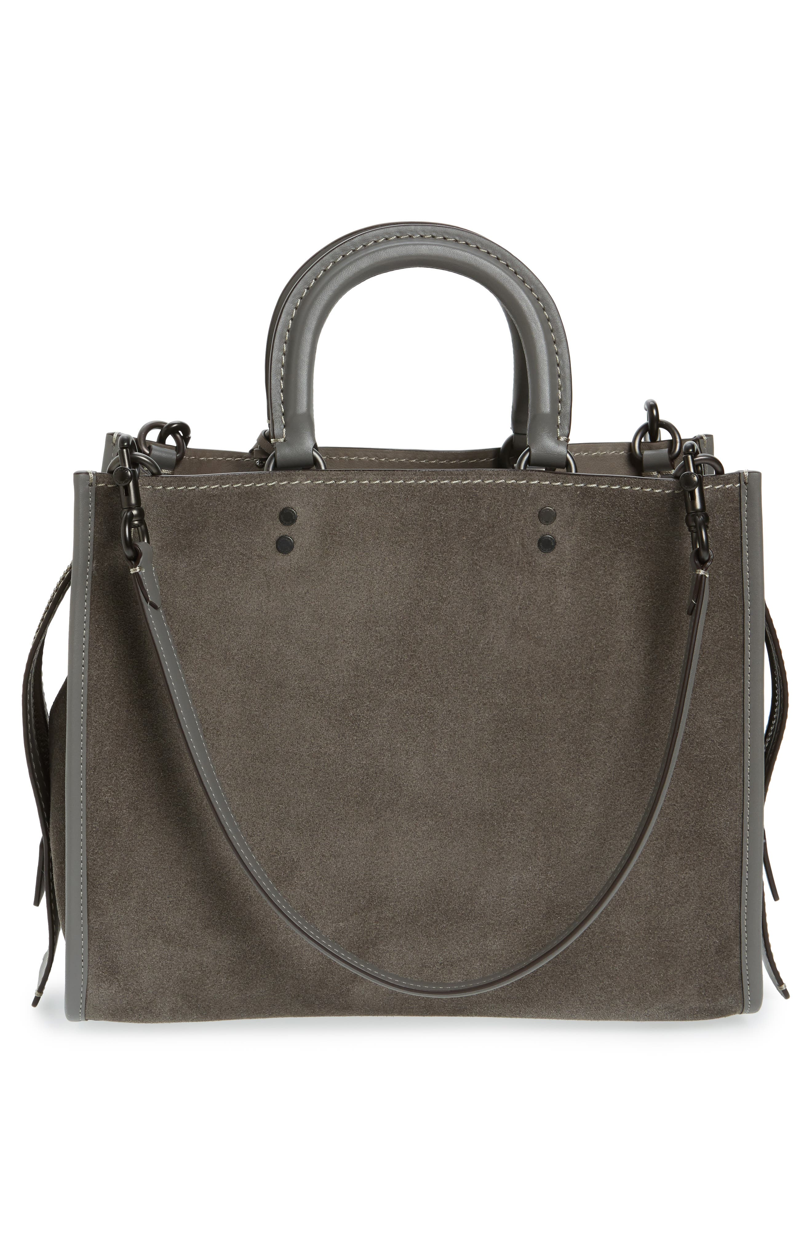'Rogue' Leather Satchel,                             Alternate thumbnail 2, color,                             Heather Grey