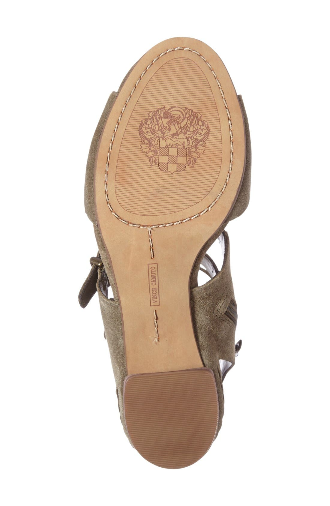 Geriann Strappy Slingback Sandal,                             Alternate thumbnail 4, color,                             Truffle Suede