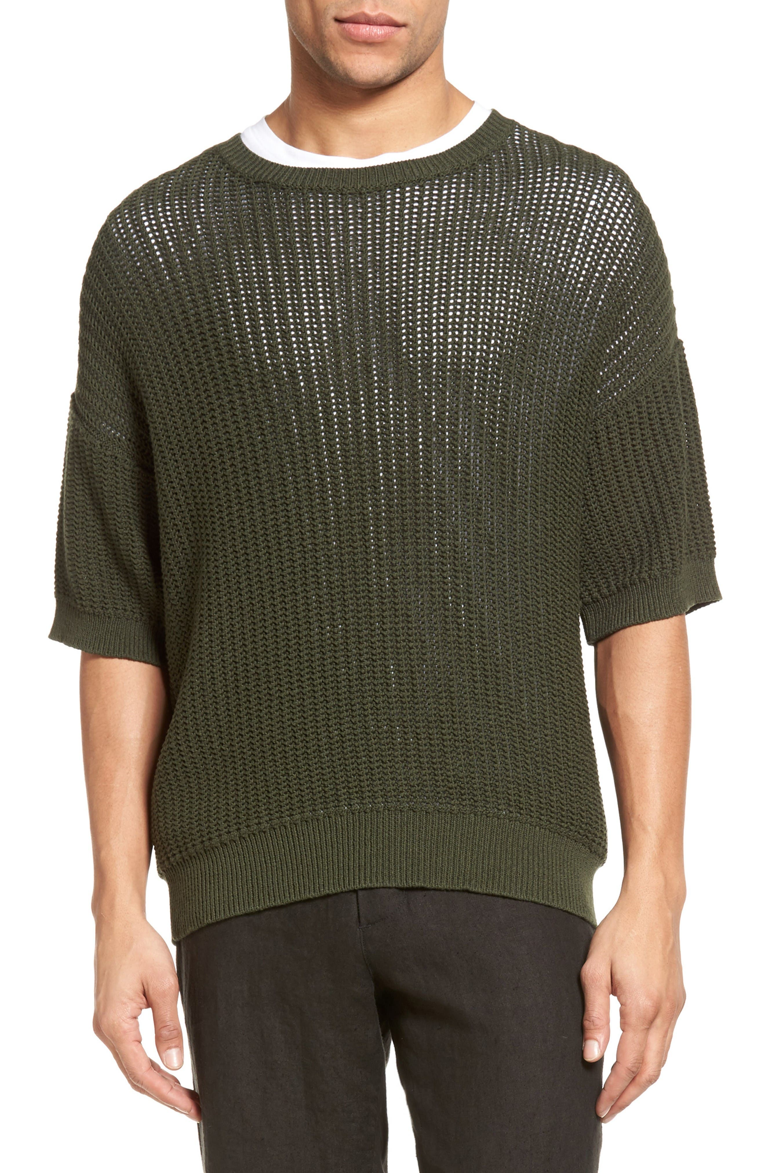 VINCE Lattice Stitch Pullover