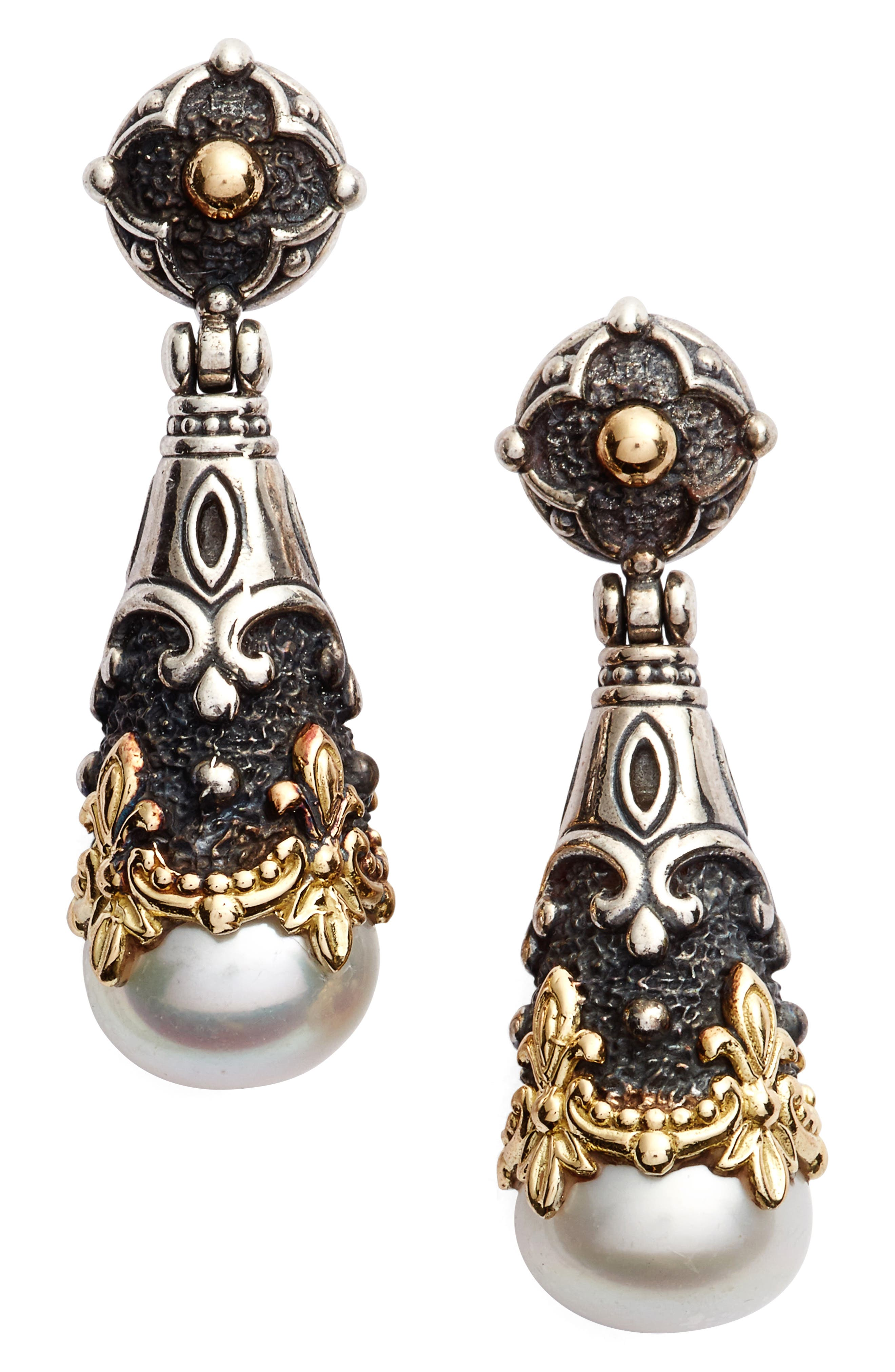 Nemesis Teardrop Earrings,                         Main,                         color, Pearl