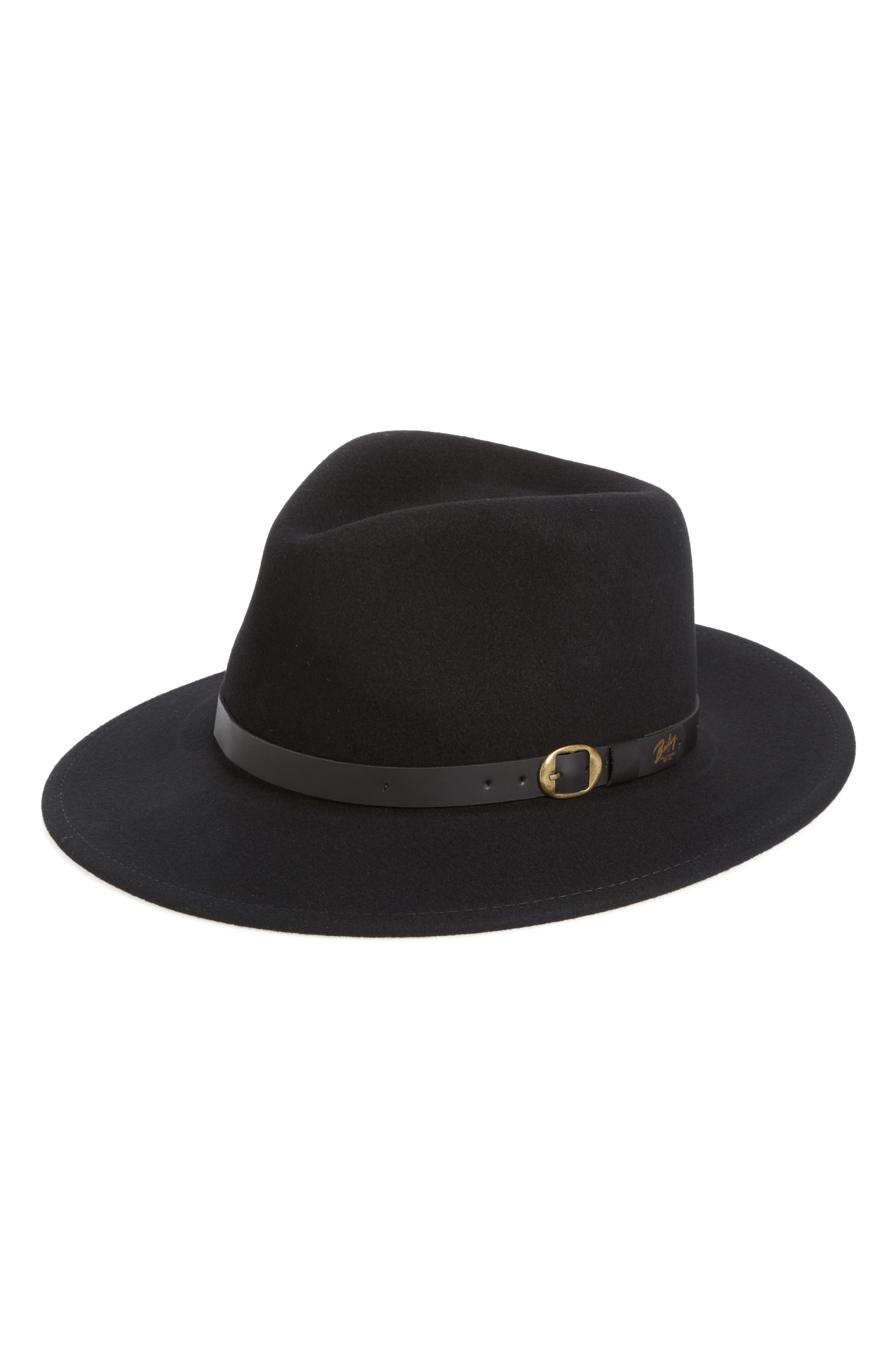 'Briar' Wool Fedora,                         Main,                         color, Black