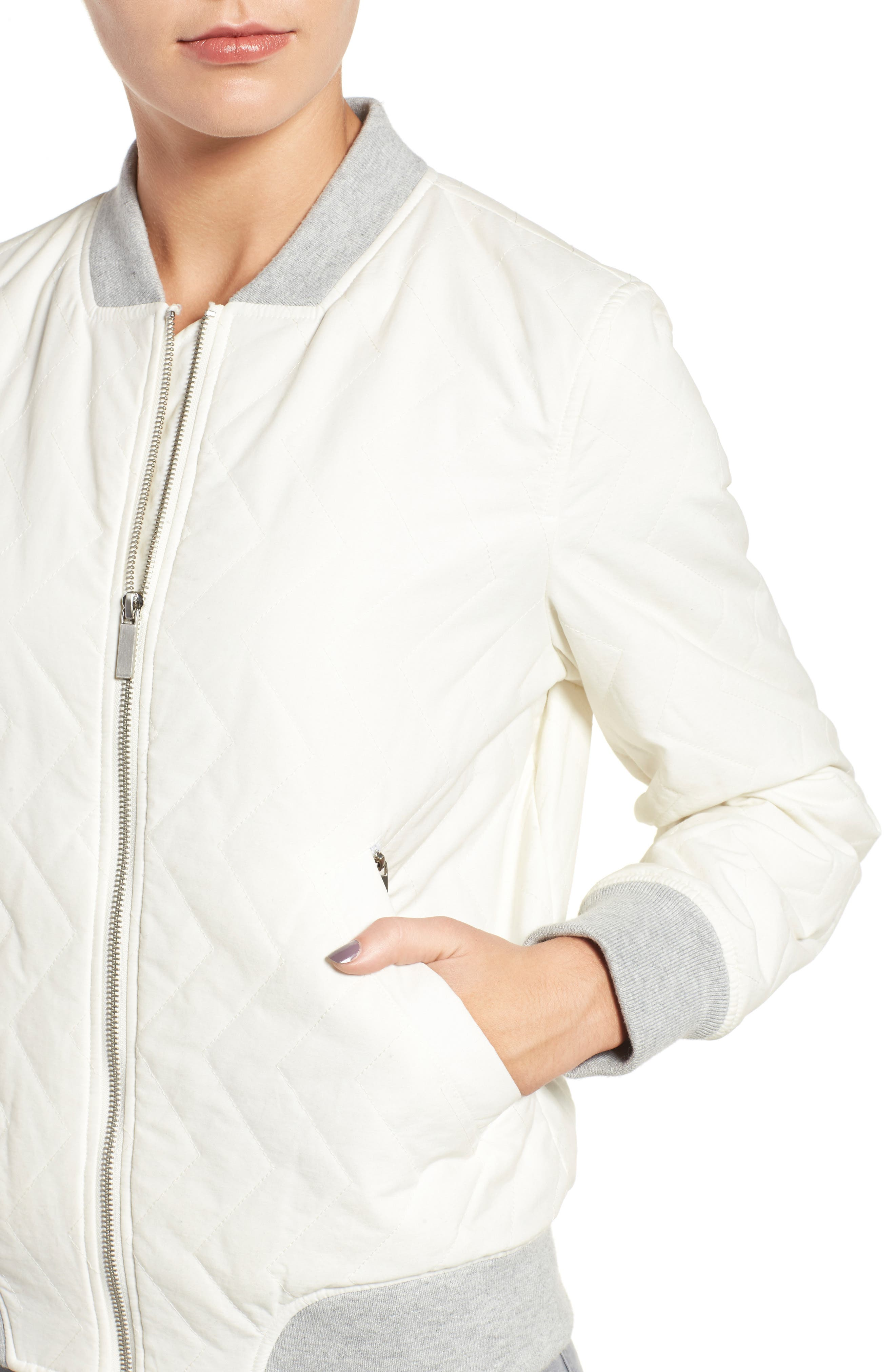 Alternate Image 4  - French Connection Quilted Bomber Jacket