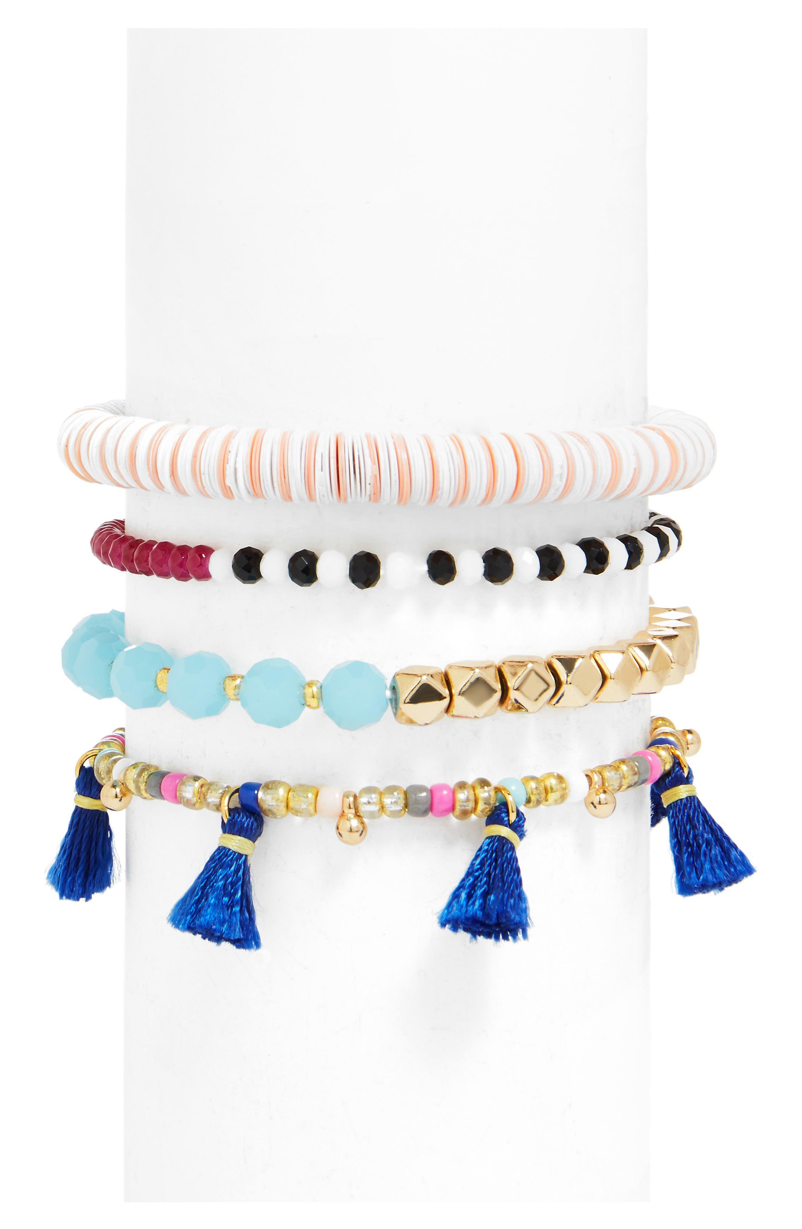 Main Image - BaubleBar Quinn Set of 4 Bracelets