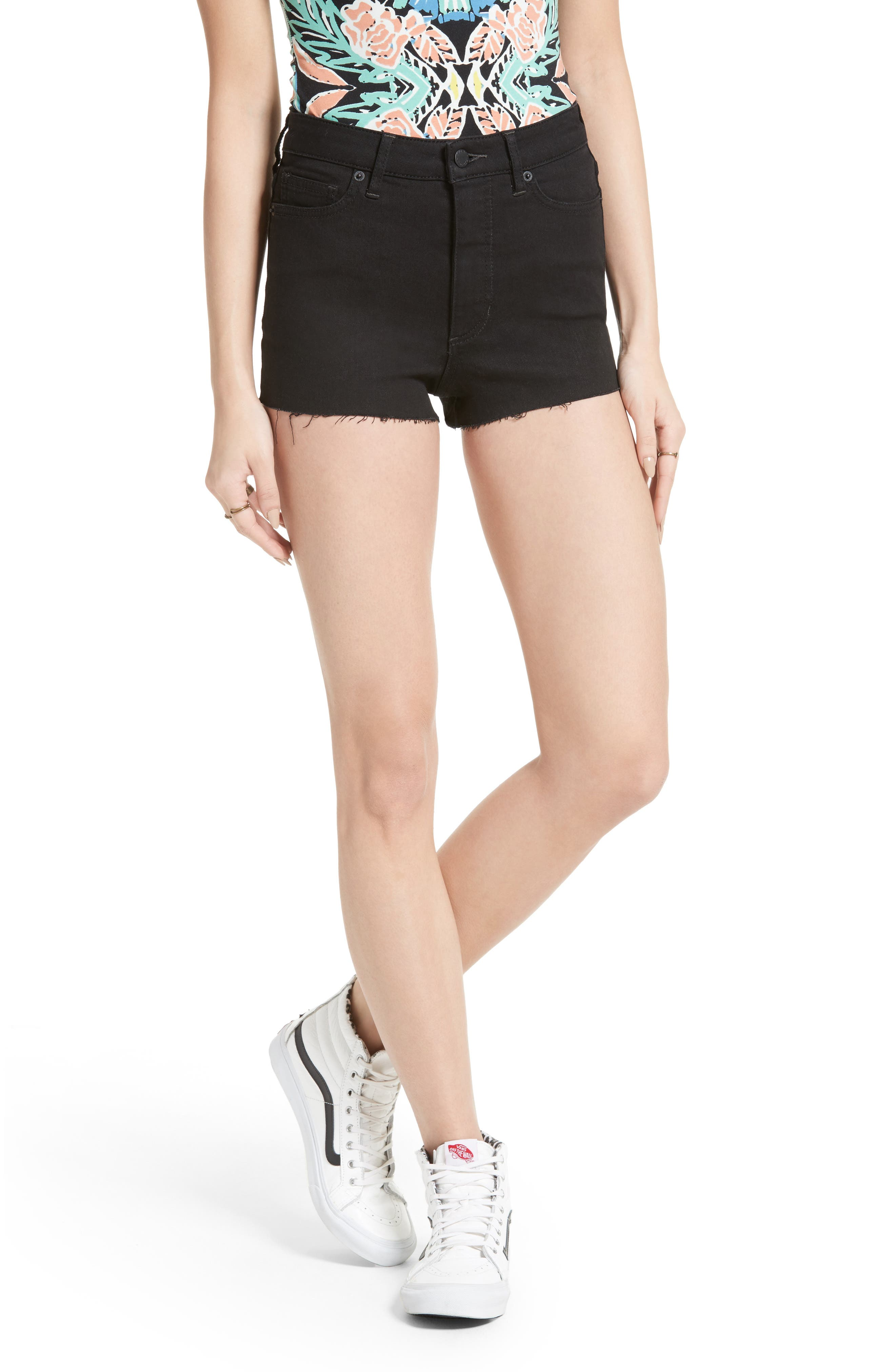 Alternate Image 1 Selected - Free People High Rise Cutoff Shorts