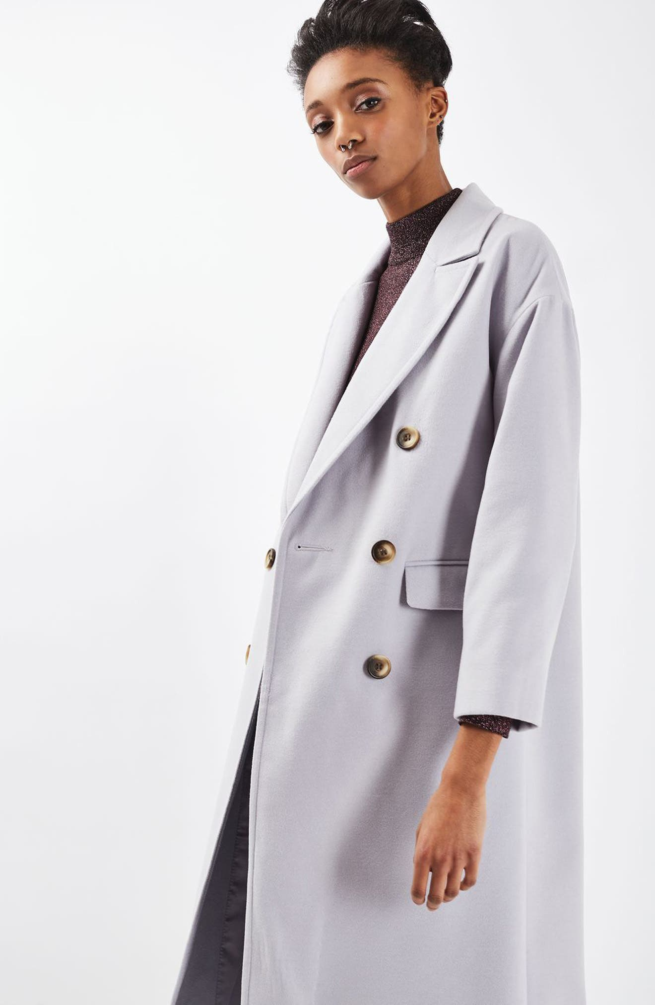 Alternate Image 2  - Topshop Double Breasted Coat