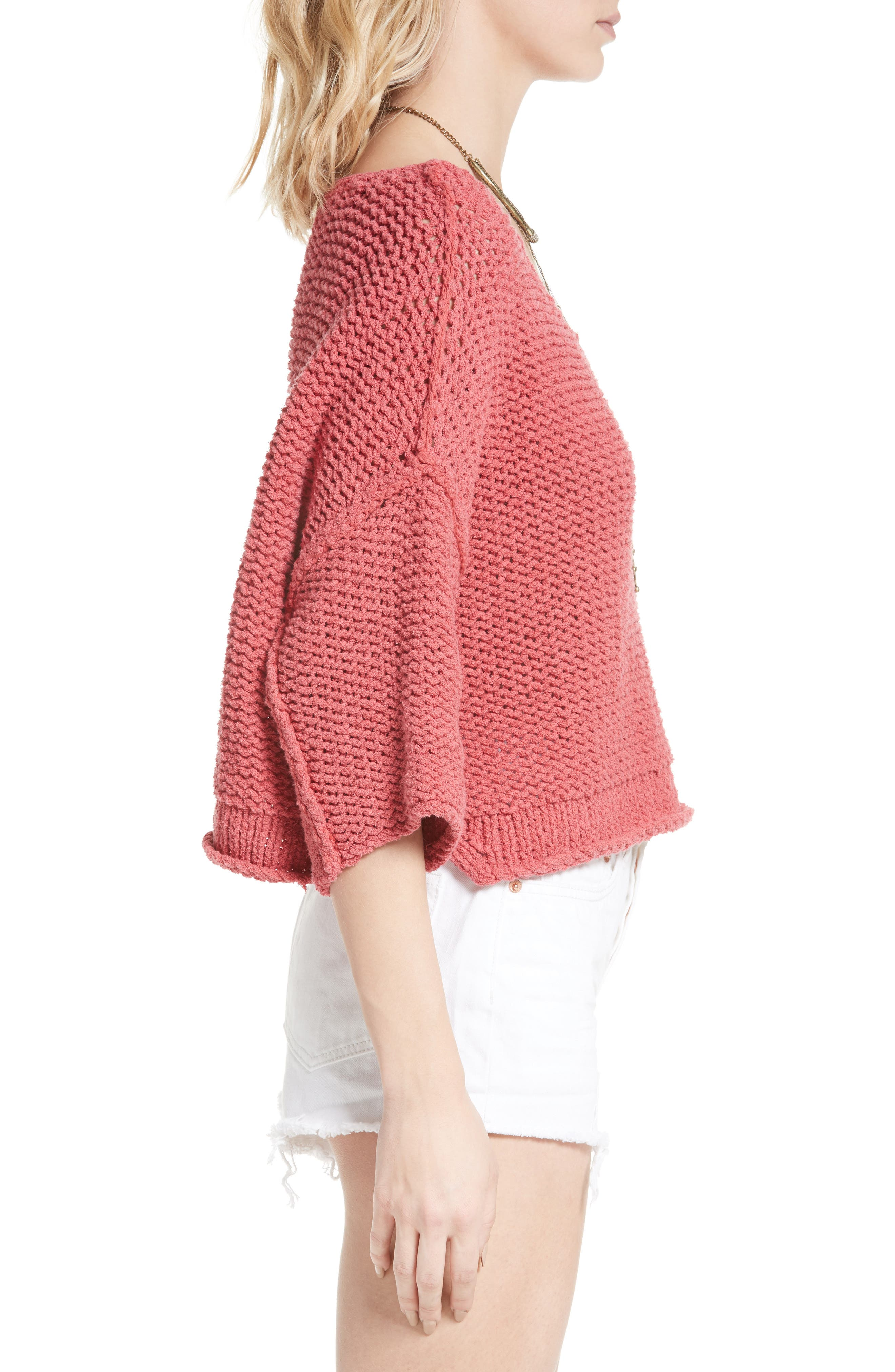 Halo Pullover,                             Alternate thumbnail 3, color,                             Coral