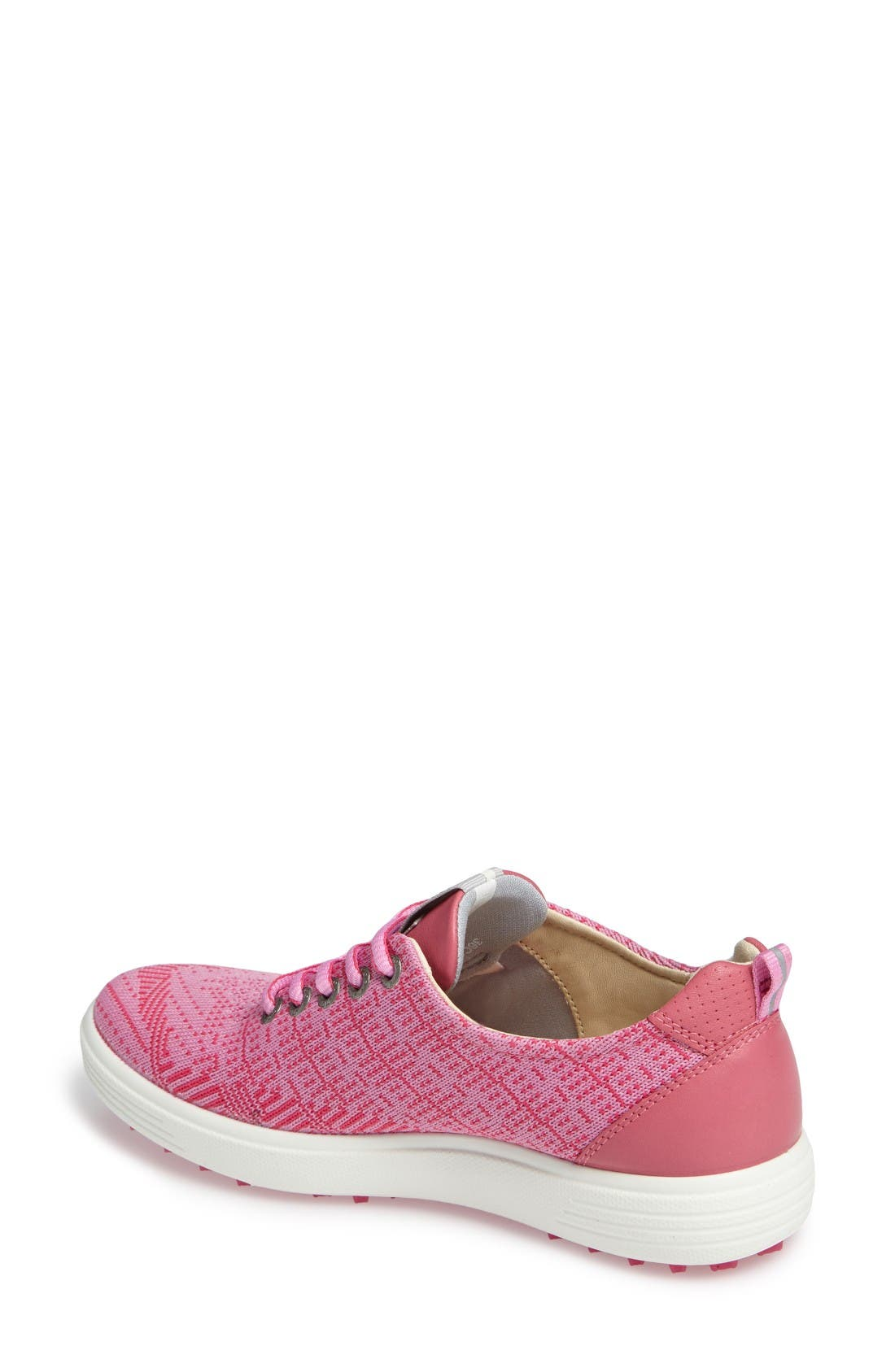 Casual Hybrid Knit Golf Sneaker,                             Alternate thumbnail 2, color,                             Pink/ Beetroot Leather