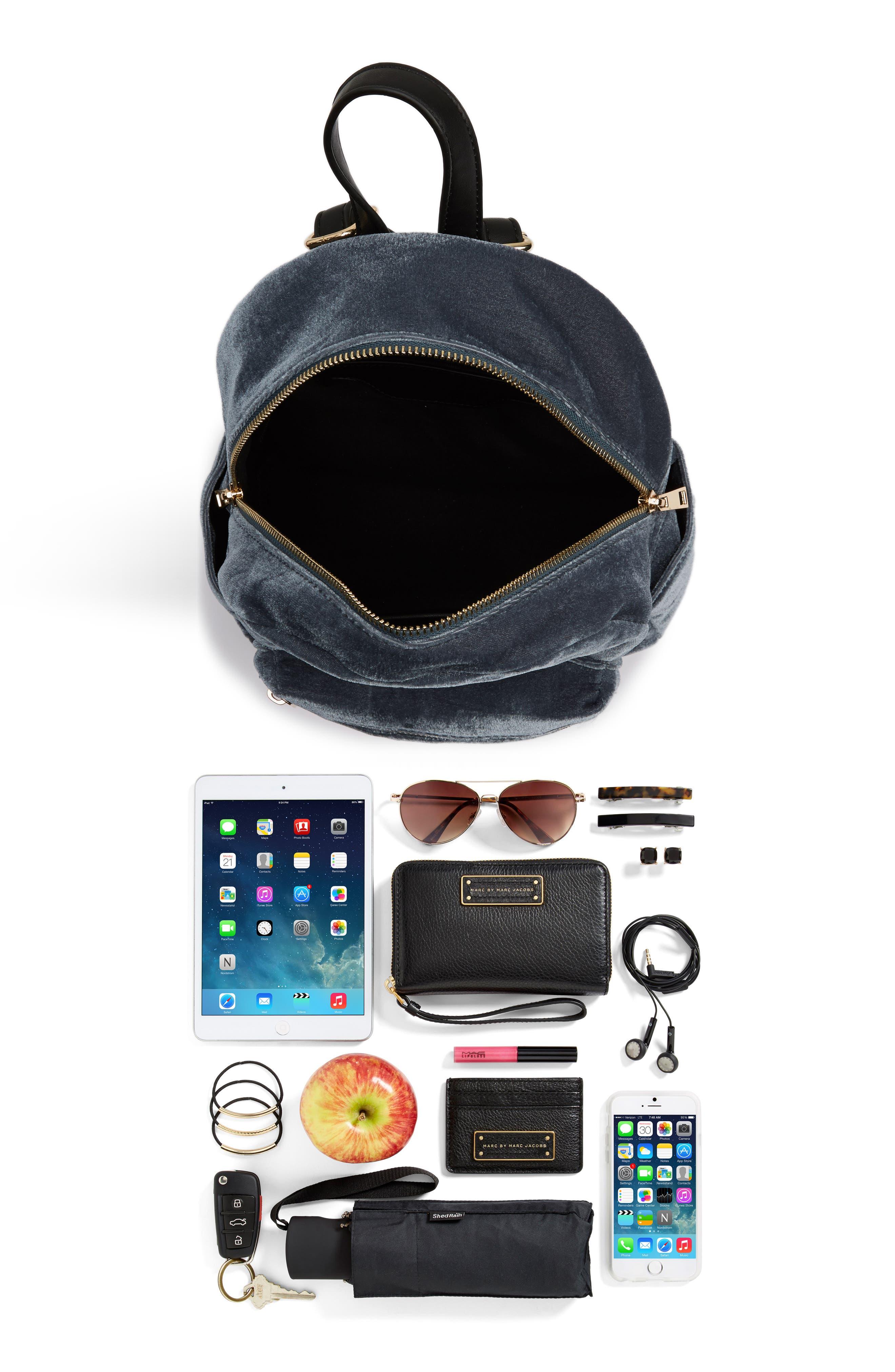 Alternate Image 7  - BP. Mini Velvet Backpack