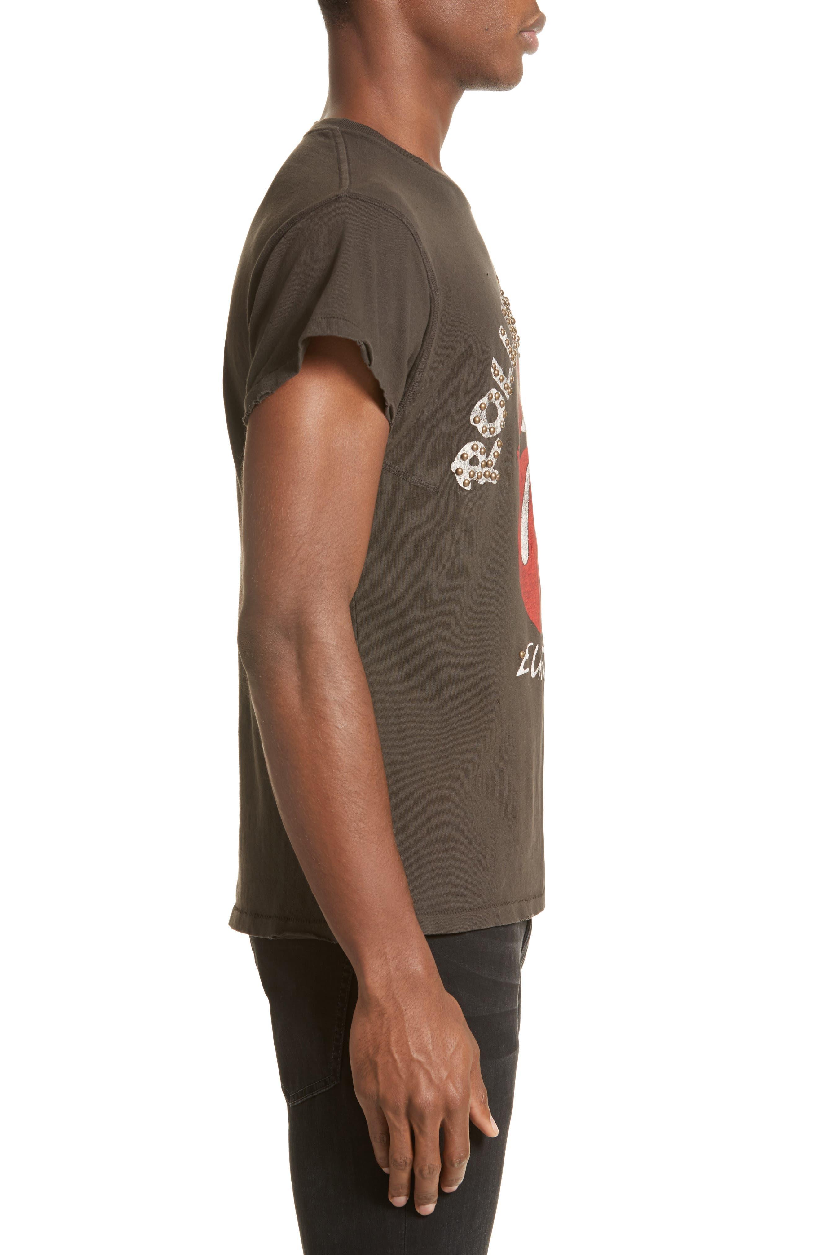Alternate Image 3  - MadeWorn Rolling Stones Europe '82 Studded Graphic T-Shirt