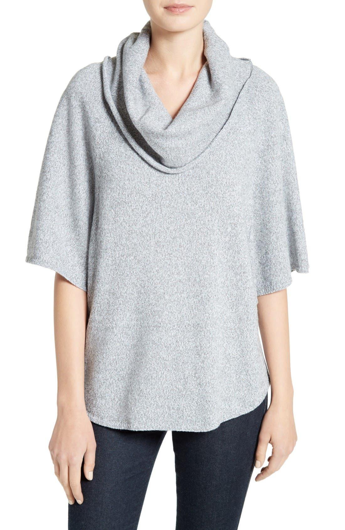 Celia Cowl Neck Sweater,                         Main,                         color, Light Smoke Multi