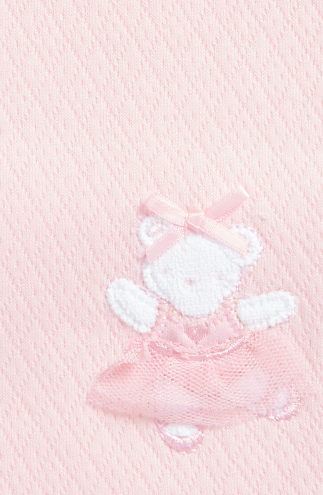Alternate Image 2  - Little Me Ballerina Bear Receiving Blanket (Nordstrom Exclusive)