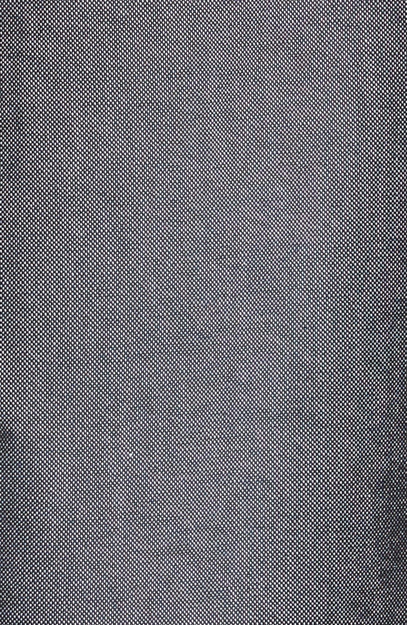 Trim Fit Classic 4-Bar Oxford Shirt,                             Alternate thumbnail 5, color,                             Dark Blue