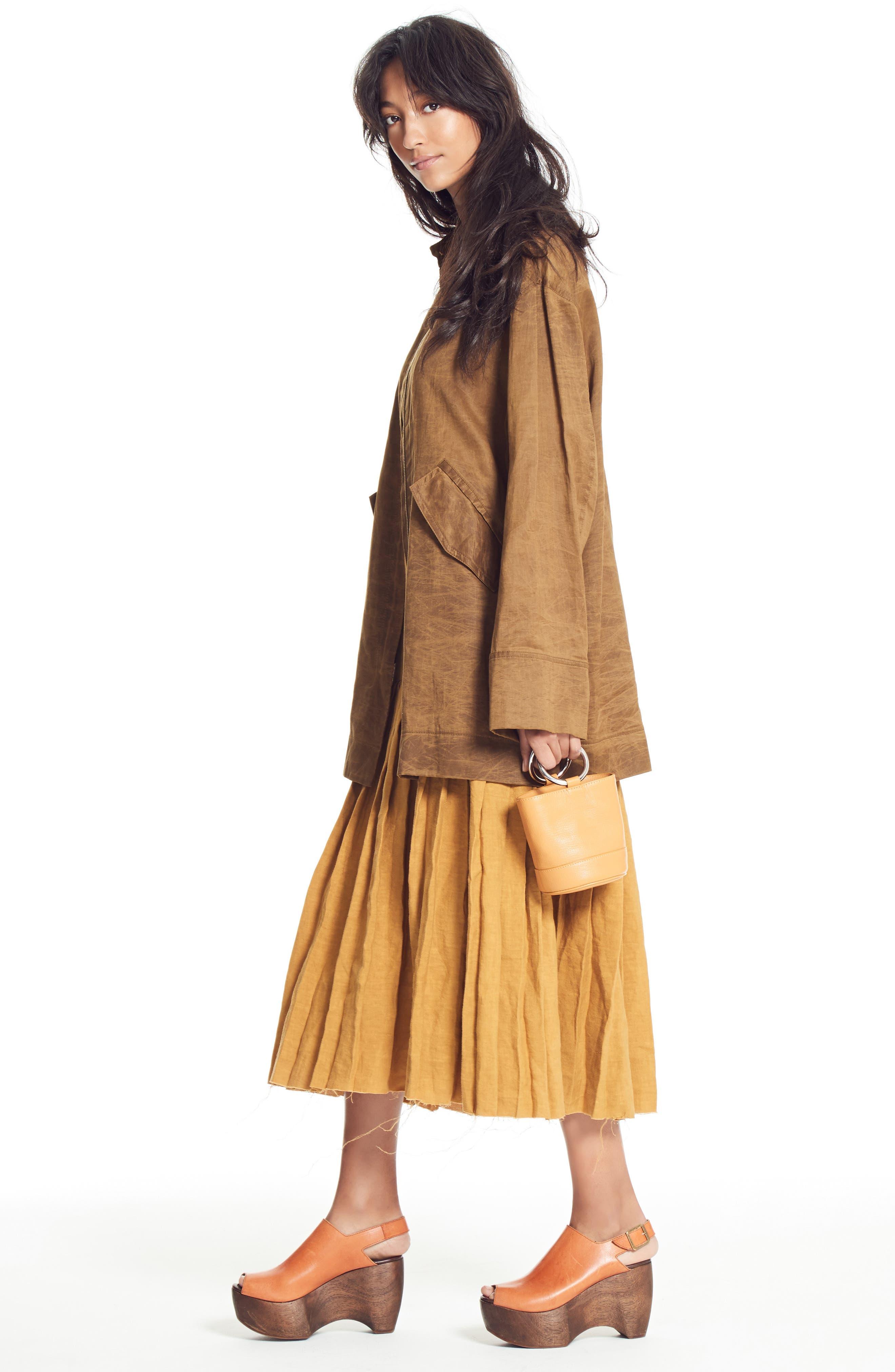Bonsai Pebbled Leather Bucket Bag,                             Alternate thumbnail 7, color,                             Tan