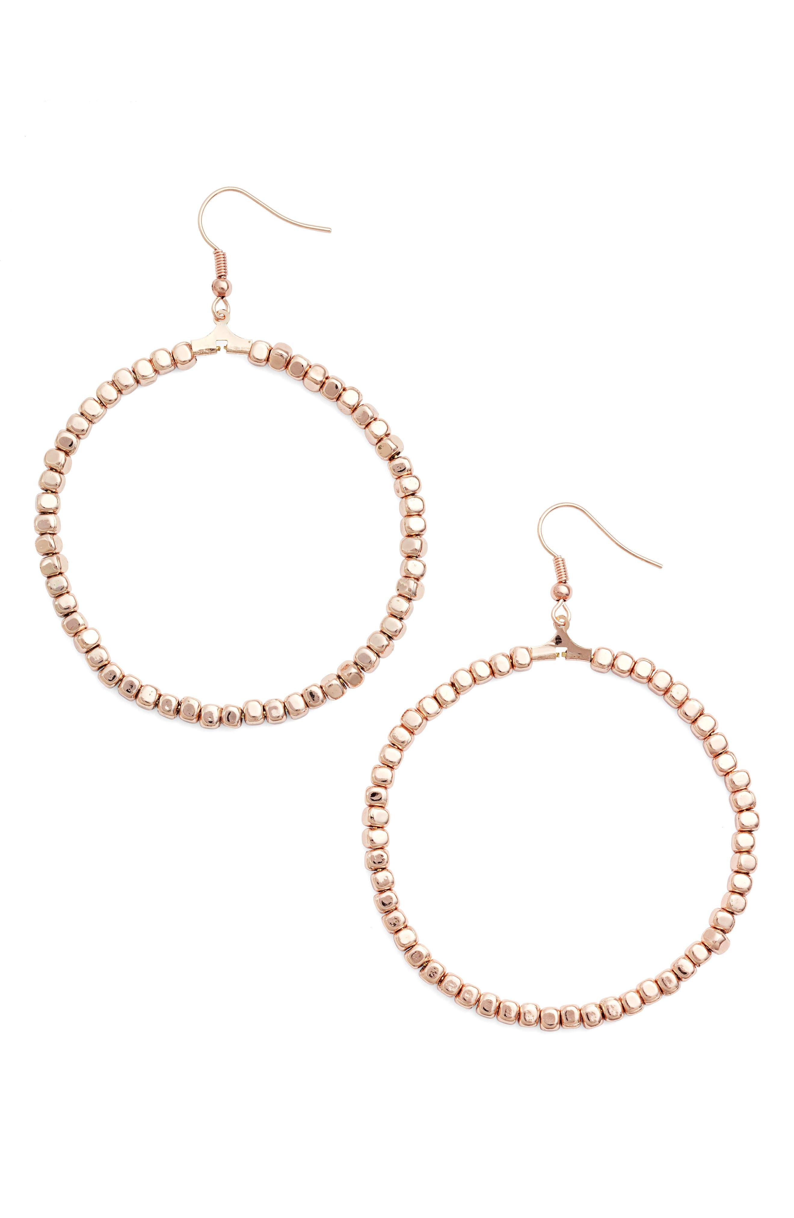 Karine Sultan Ava Beaded Hoop Earrings