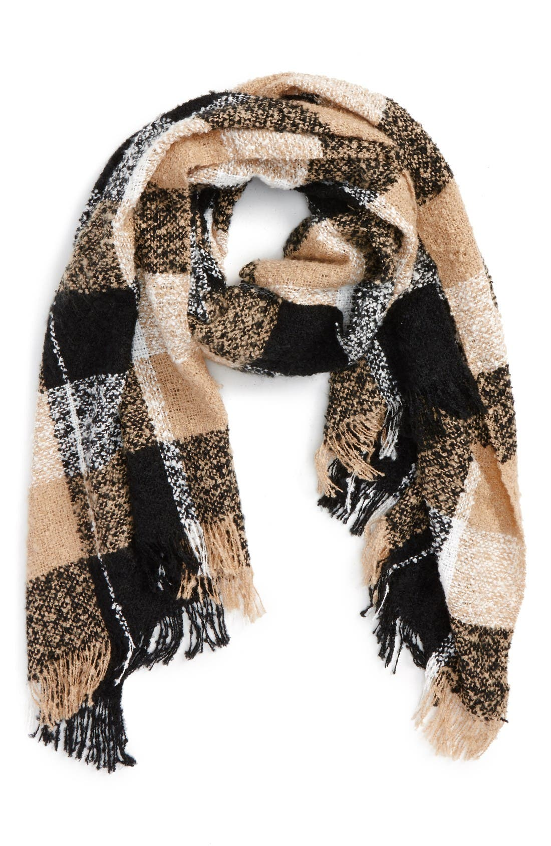 BP. Marled Plaid Scarf