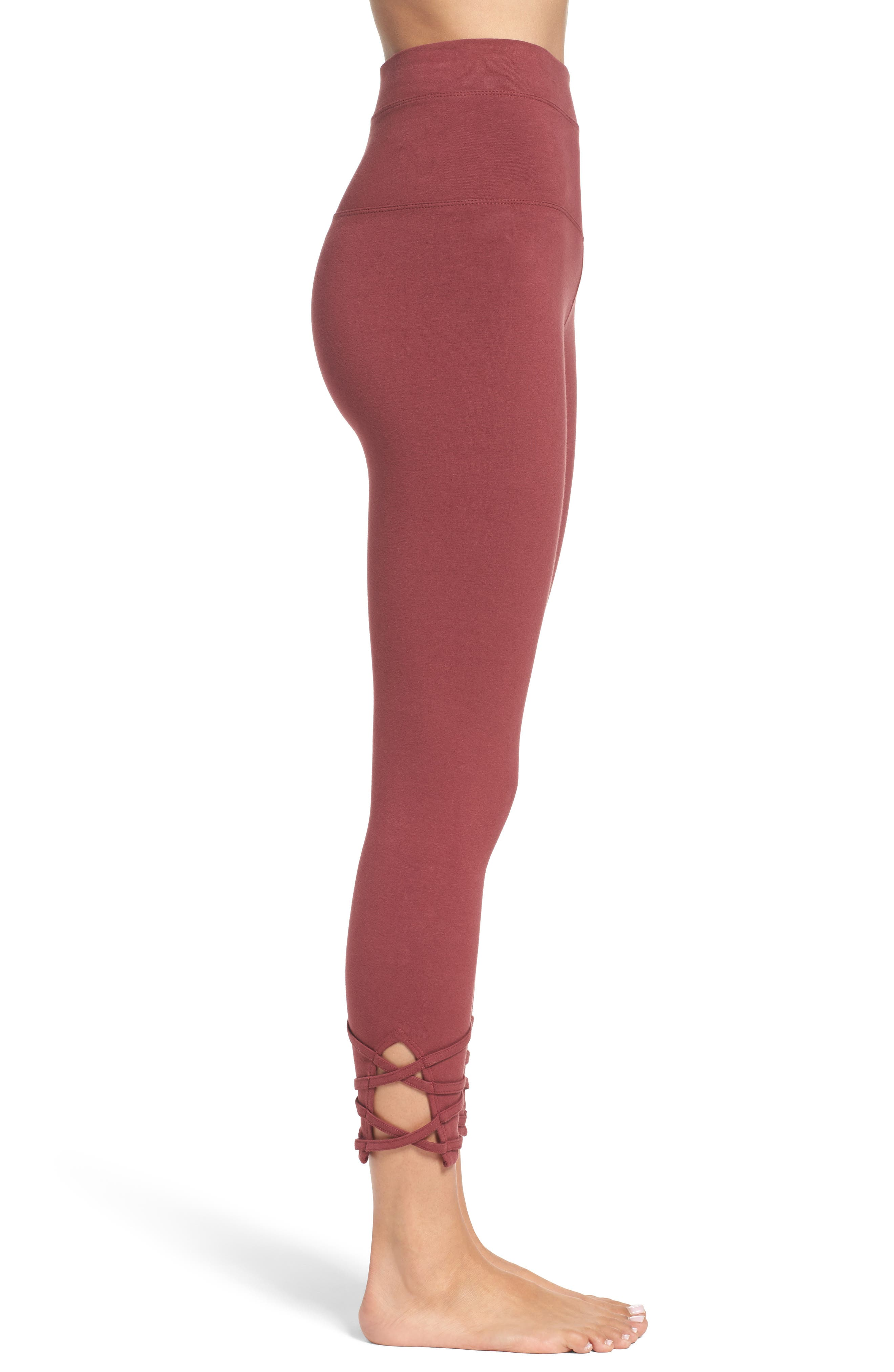 Alternate Image 3  - Hard Tail High Waist Crop Leggings