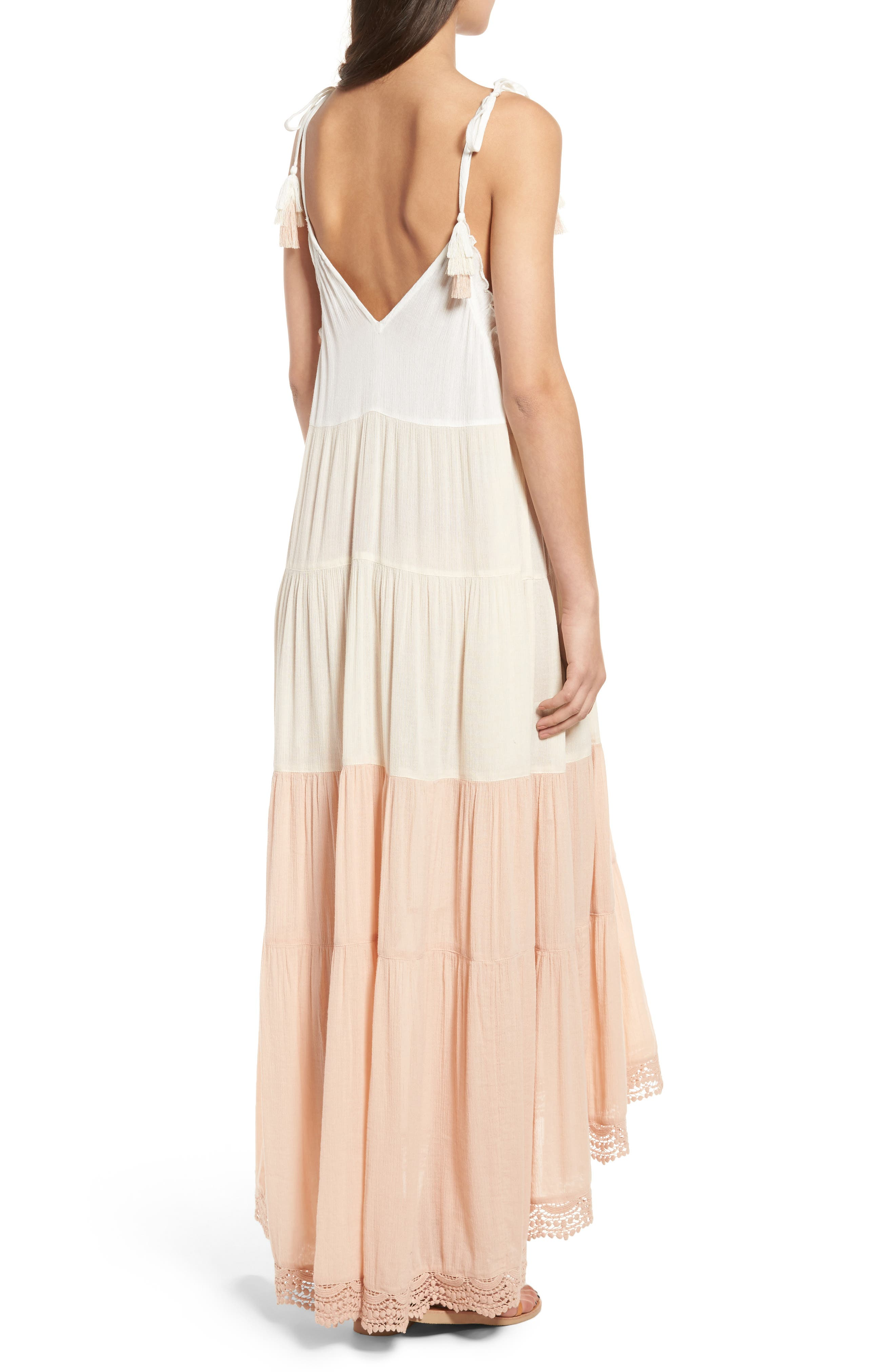 Alternate Image 2  - Sun & Shadow Colorblock Maxi Dress
