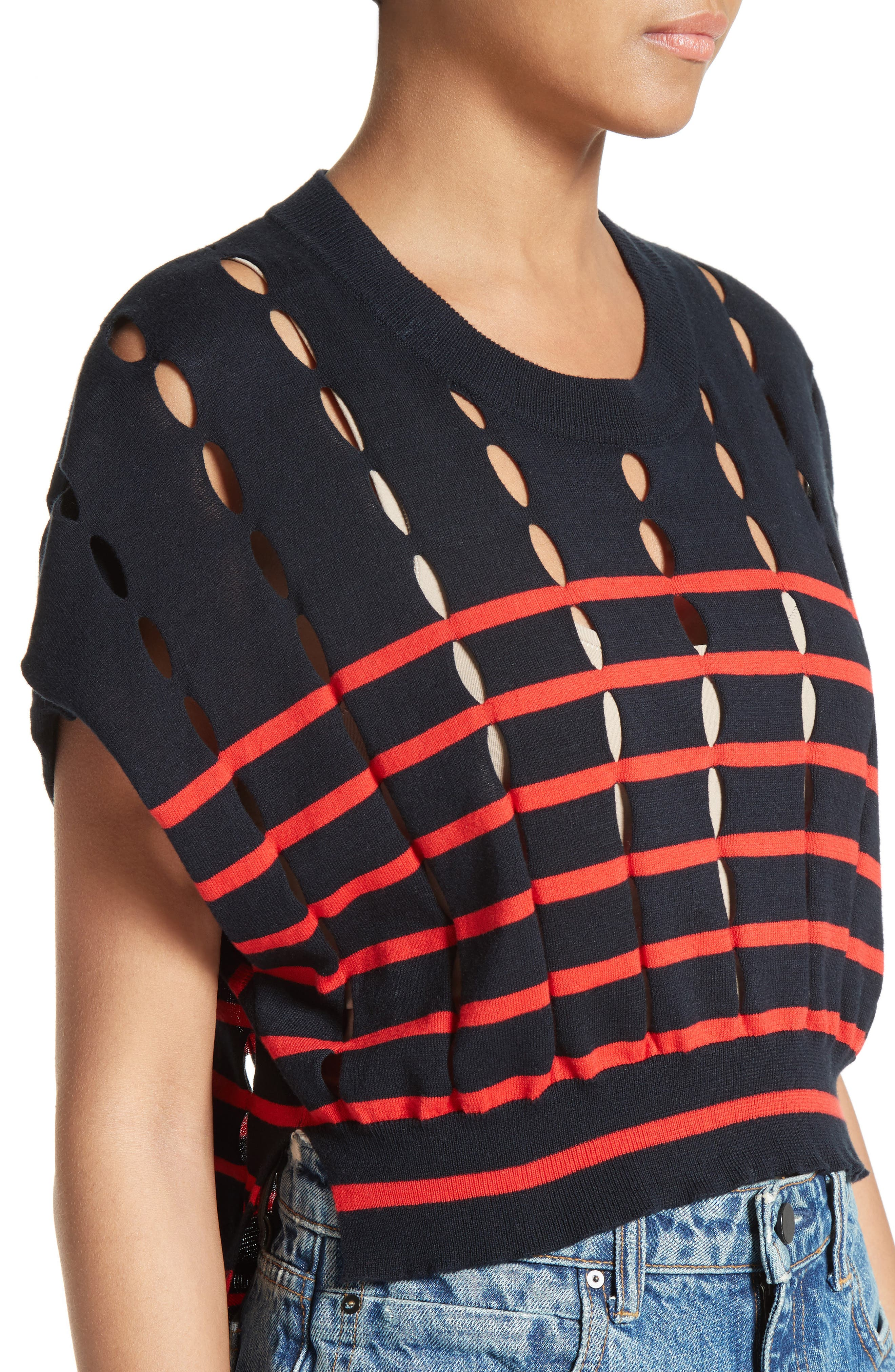Alternate Image 4  - T by Alexander Wang Stripe Knit Pullover