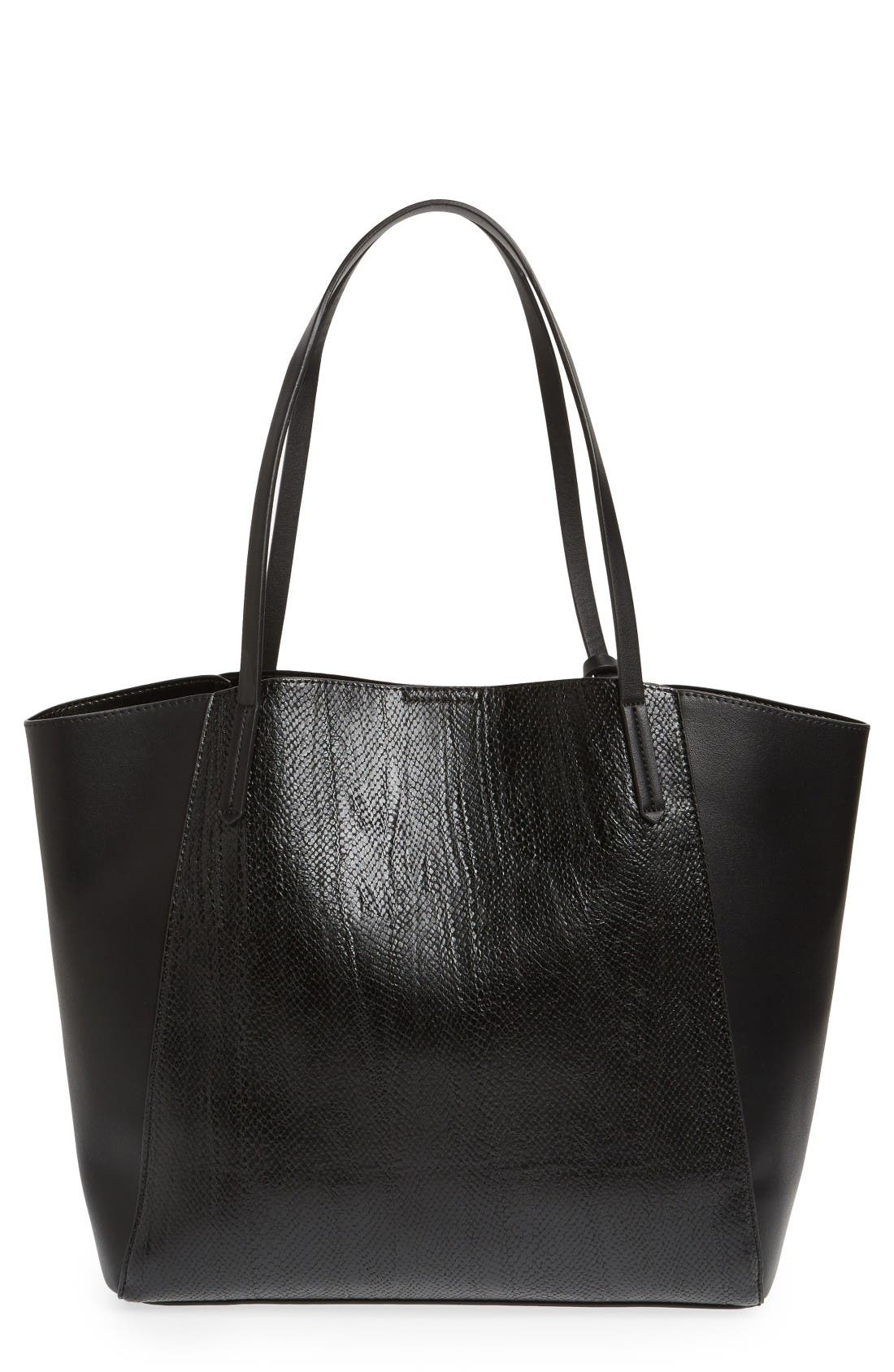 Alternate Image 1 Selected - BP. Colorblock Faux Leather Tote