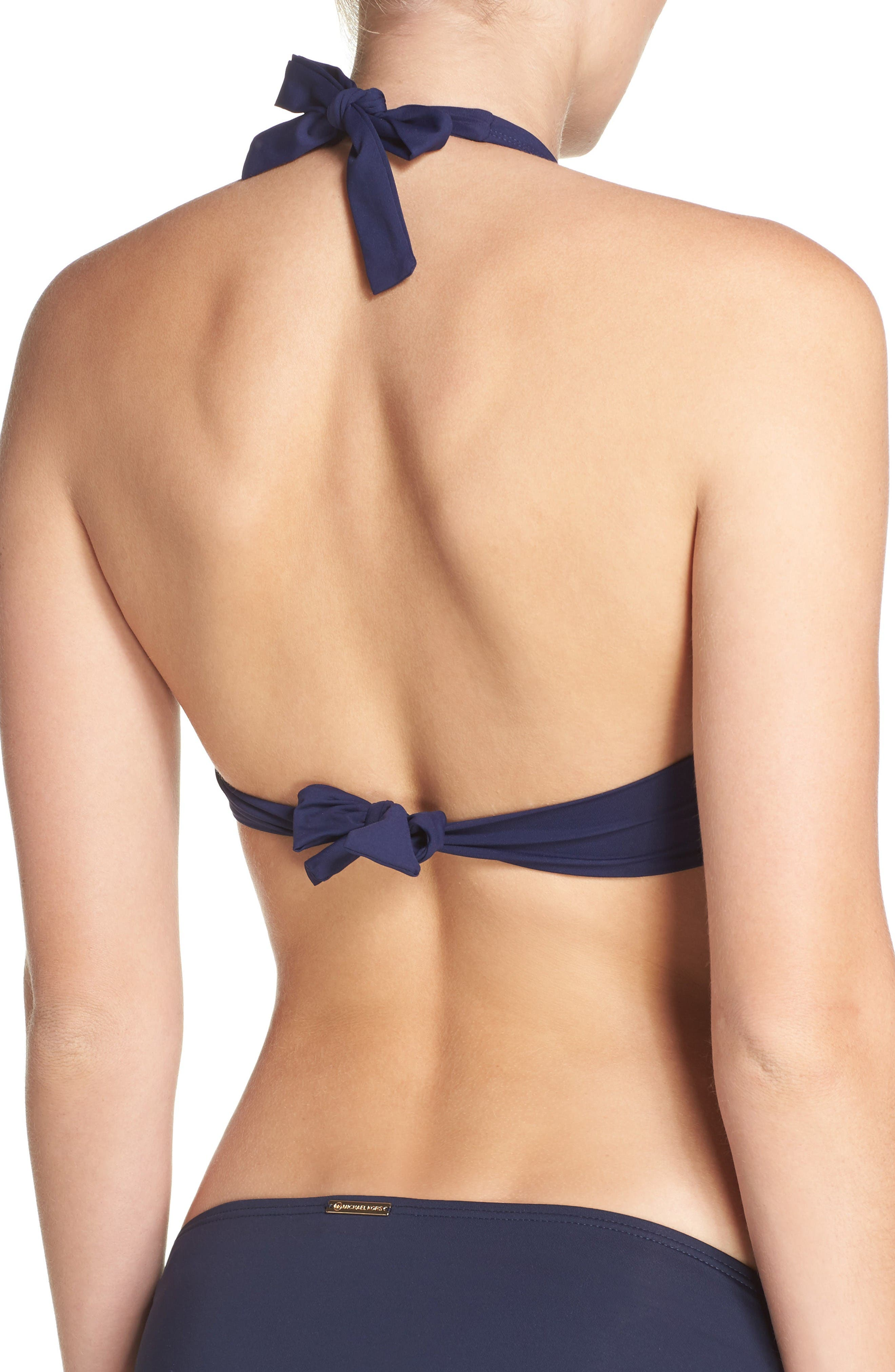 Underwire Halter Bikini Top,                             Alternate thumbnail 2, color,                             Mare Navy
