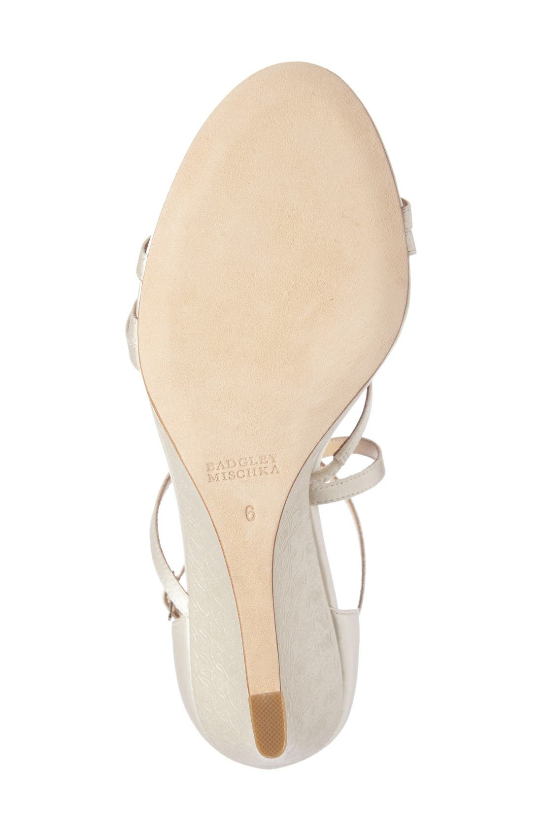 Alternate Image 4  - Badgley Mischka Bonanza Strappy Wedge Sandal (Women)