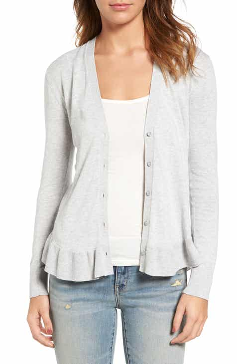 Halogen® Pointelle Cardigan (Regular & Petite) By HALOGEN by HALOGEN Discount