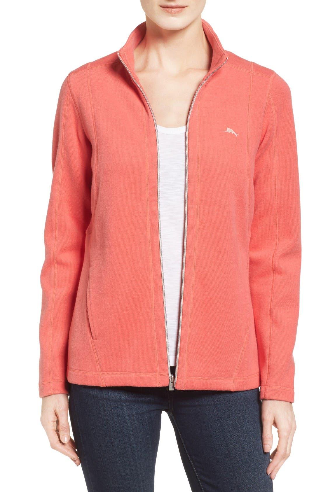 'Aruba' Full Zip Sweatshirt,                             Main thumbnail 1, color,                             Fusion