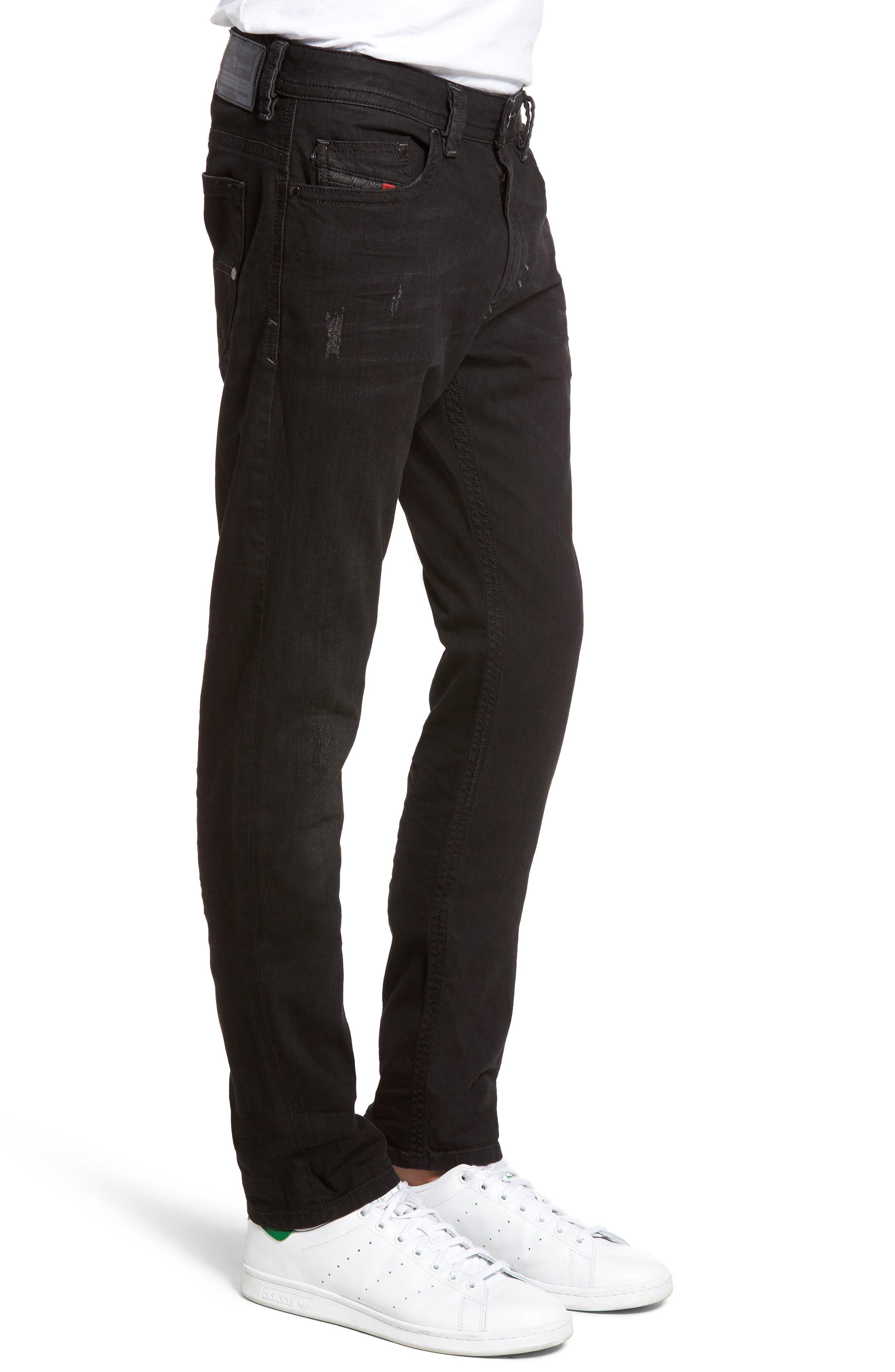 Alternate Image 3  - DIESEL® Thavar Skinny Fit Jeans (0679F)