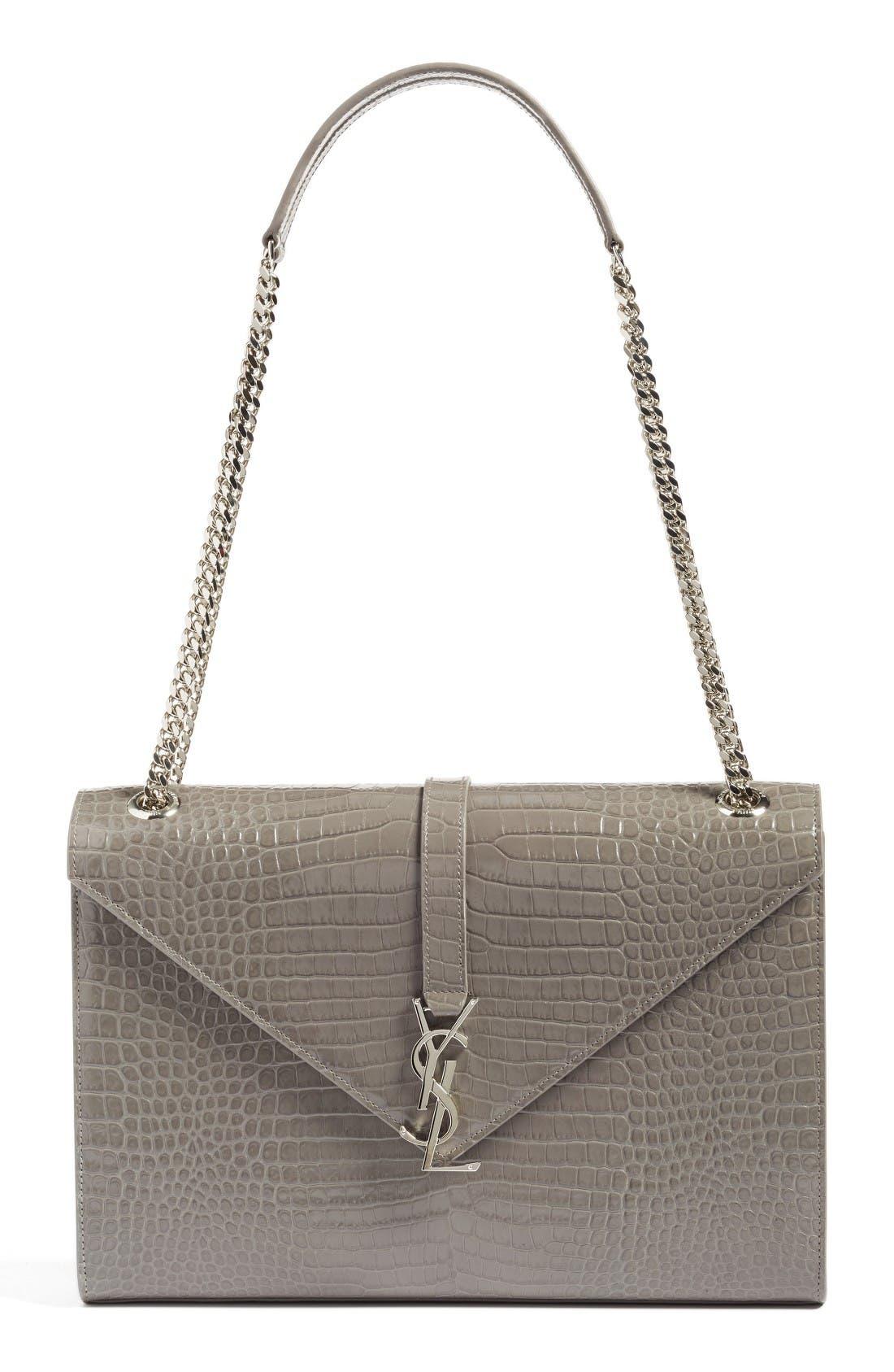 Saint Laurent Large Monogram Leather Shoulder Bag