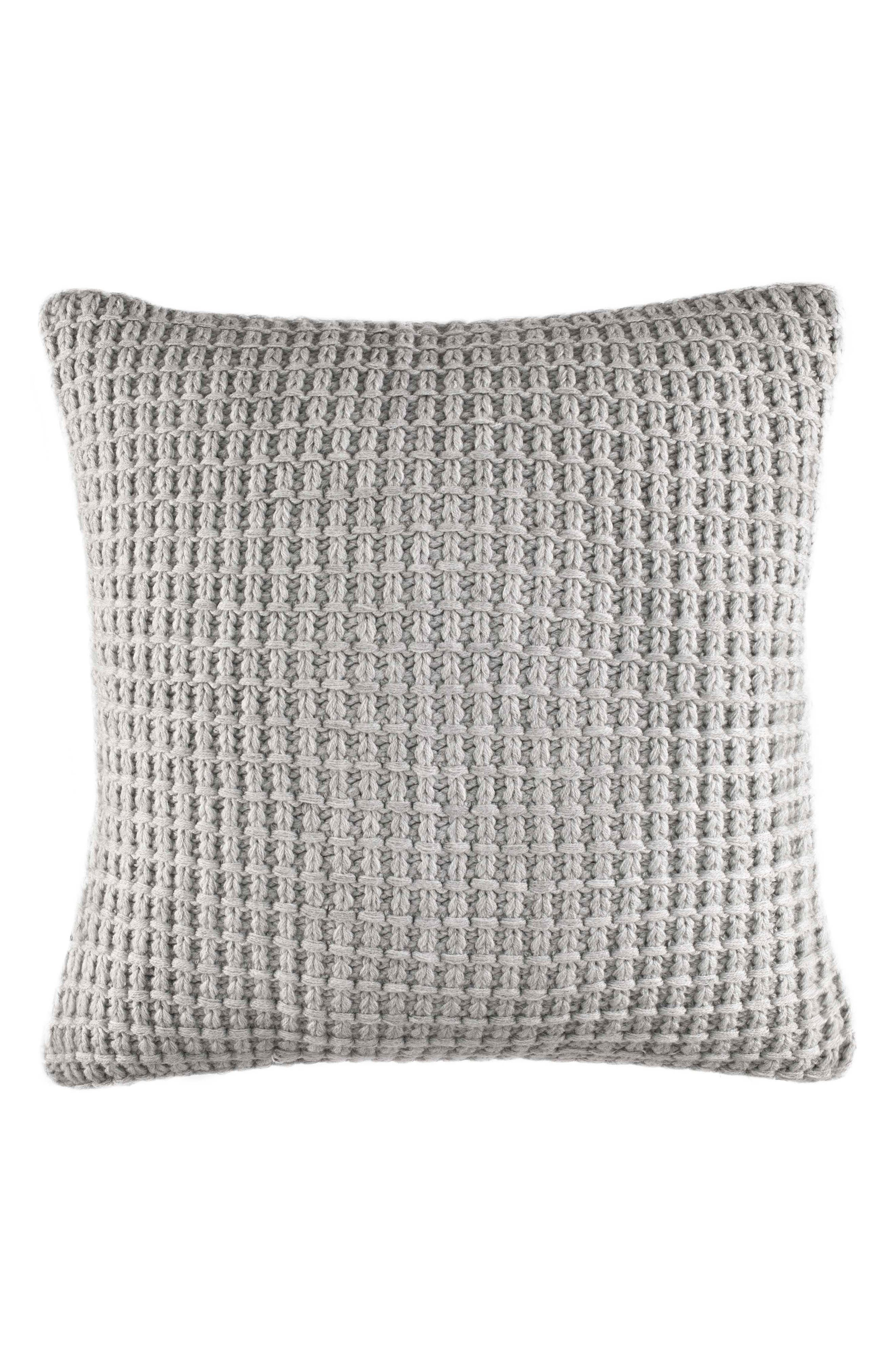 Grey Sweater Knit Pillow,                             Main thumbnail 1, color,                             Grey