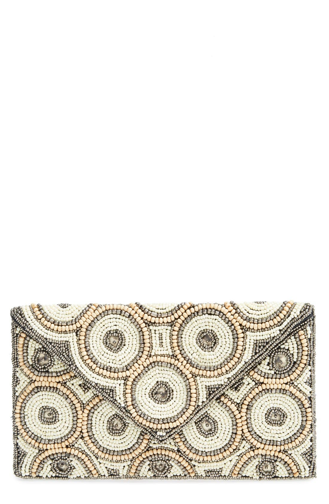 Main Image - Natasha Couture Beaded Clutch