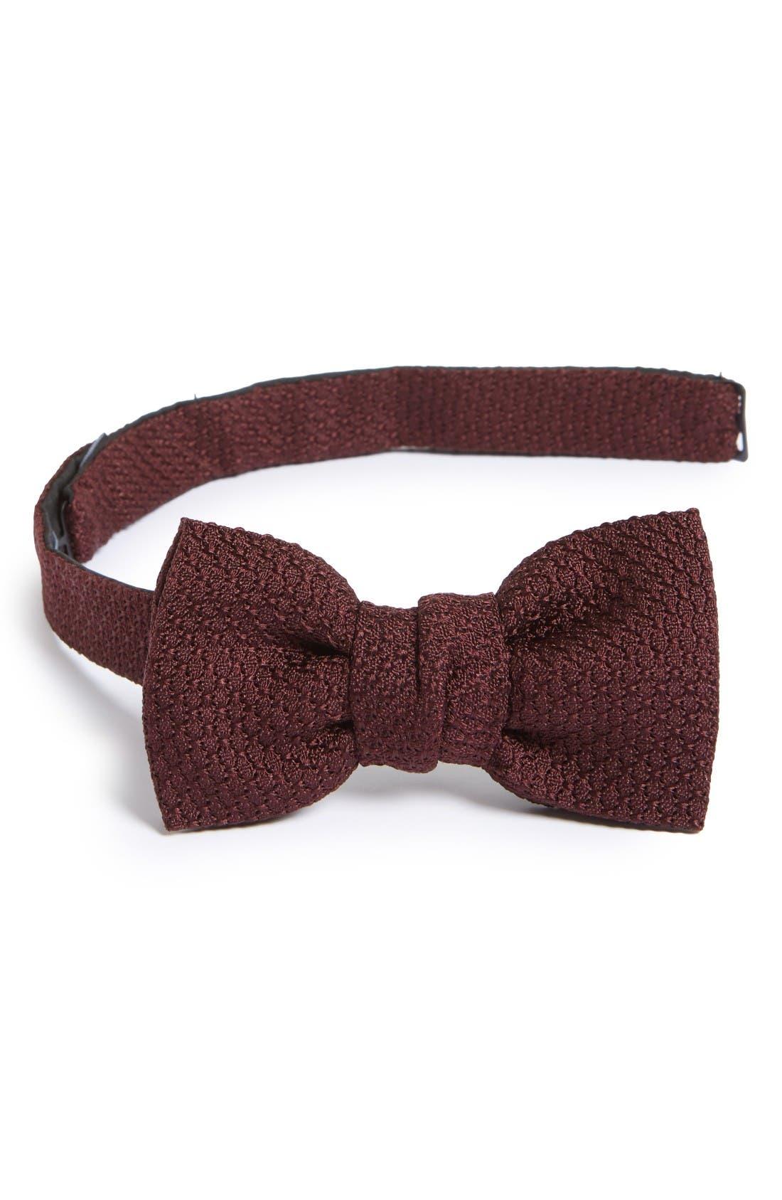 Lanvin New Classic Texture Knit Silk Bow Tie