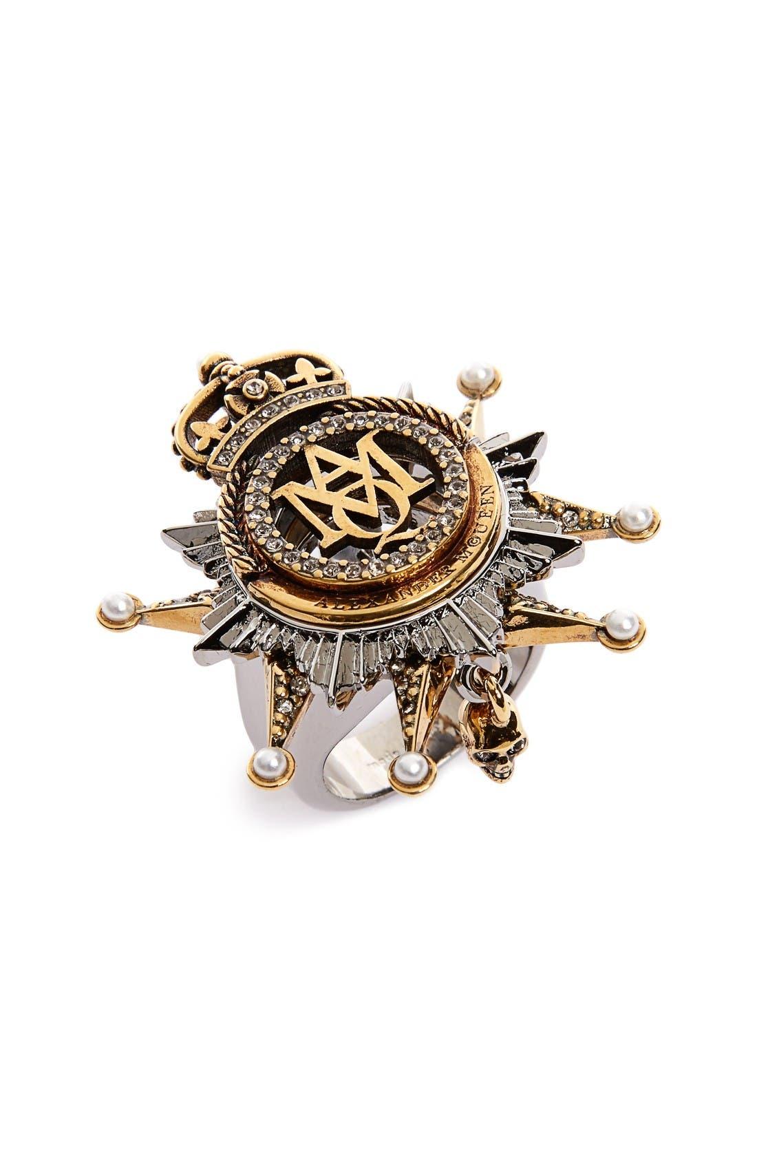 Alternate Image 1 Selected - Alexander McQueen Medallion Ring