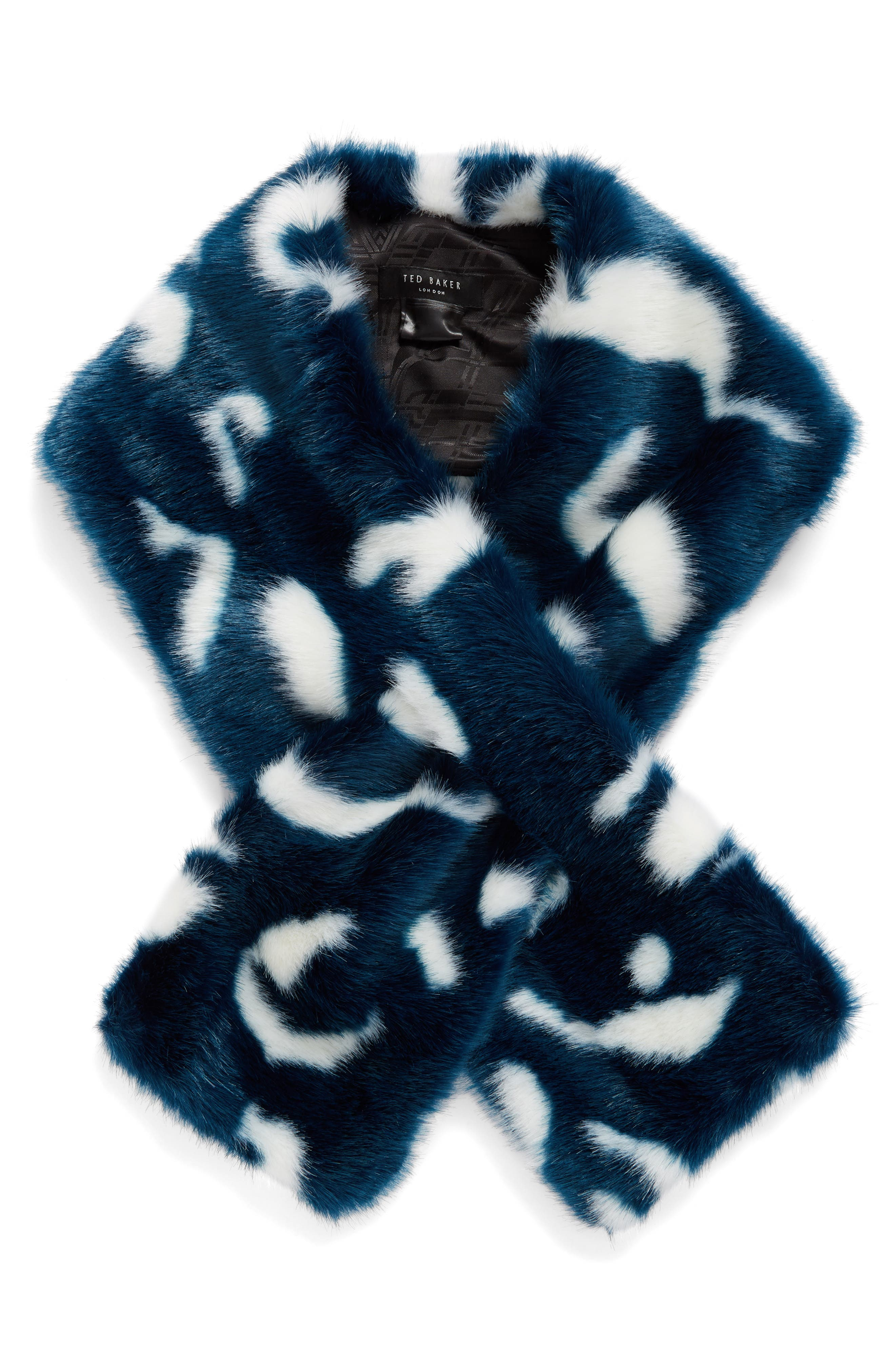 Alternate Image 2  - Ted Baker London Colorblock Faux Fur Scarf