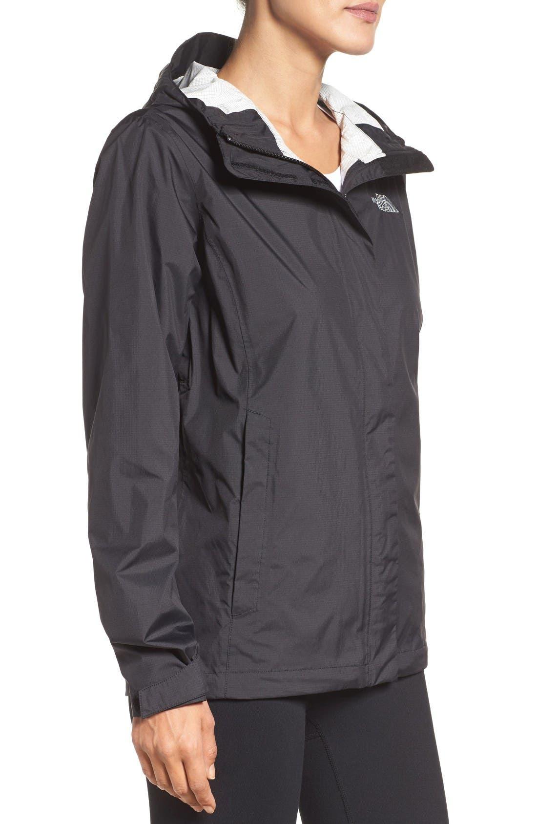 Venture 2 Waterproof Jacket,                             Alternate thumbnail 3, color,                             Tnf Black