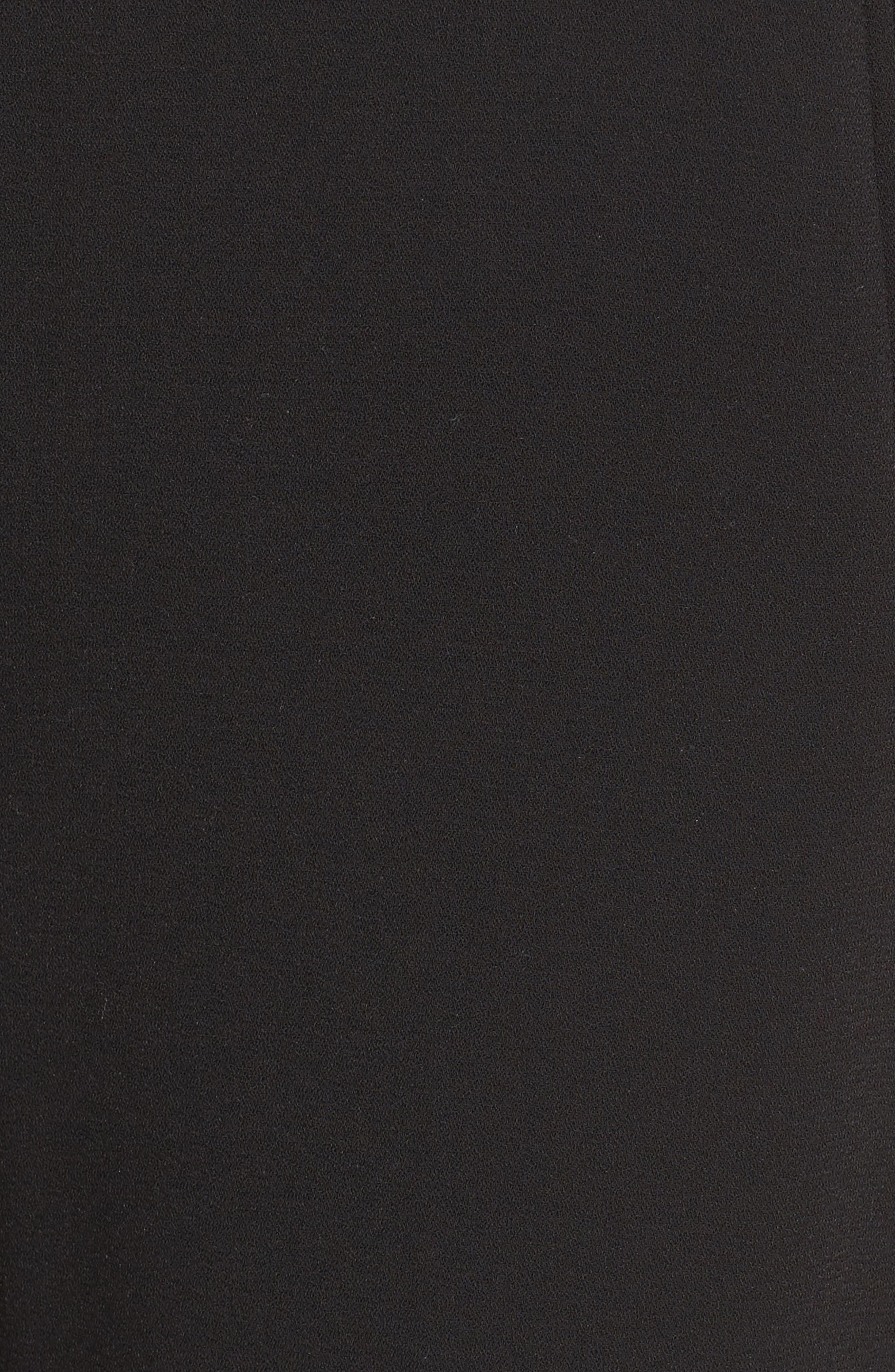 Moss Crepe Crop Trousers,                             Alternate thumbnail 5, color,                             Black