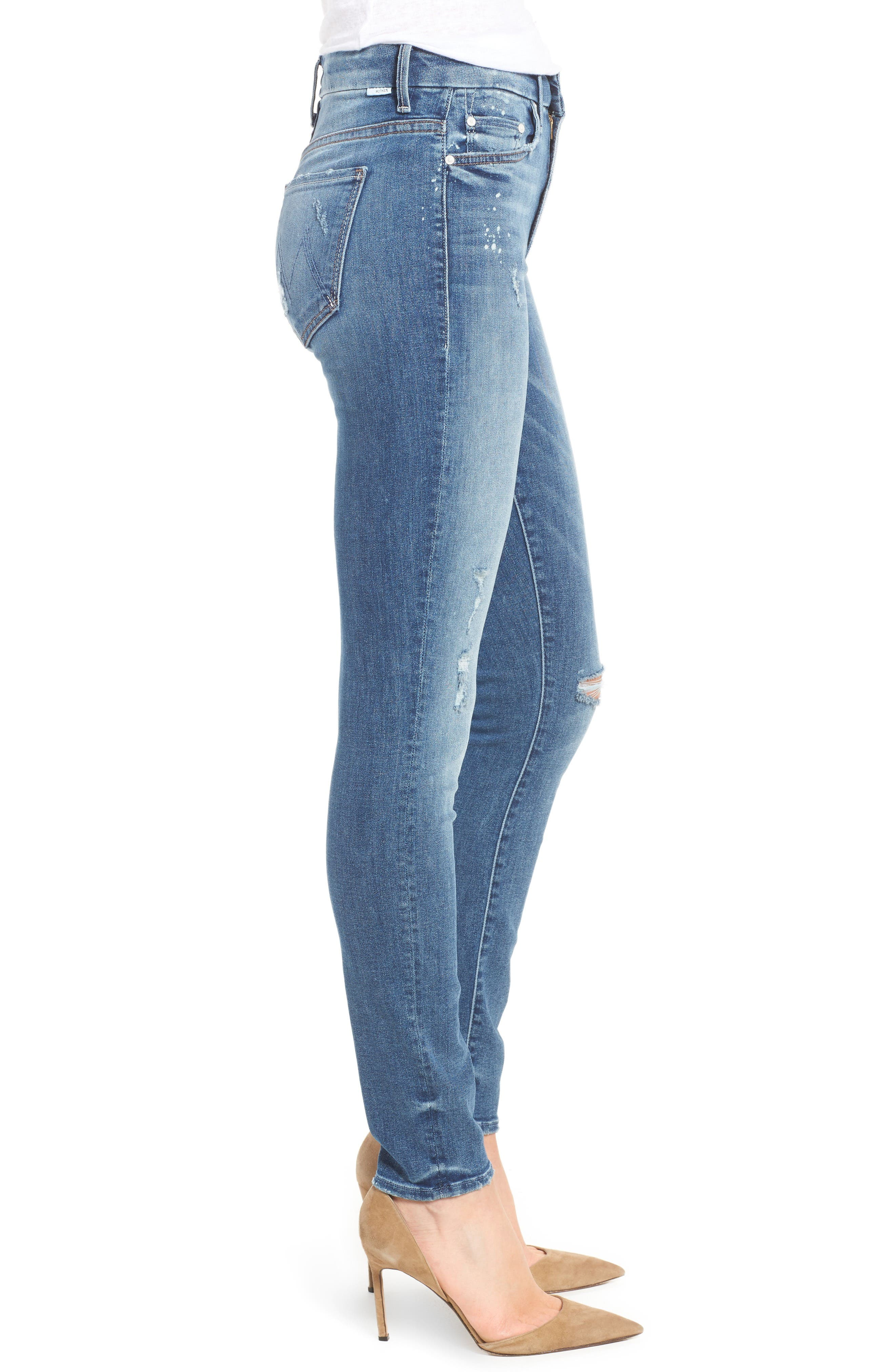 Alternate Image 3  - MOTHER The Looker High Waist Skinny Jeans (Loud Is How I Love You)