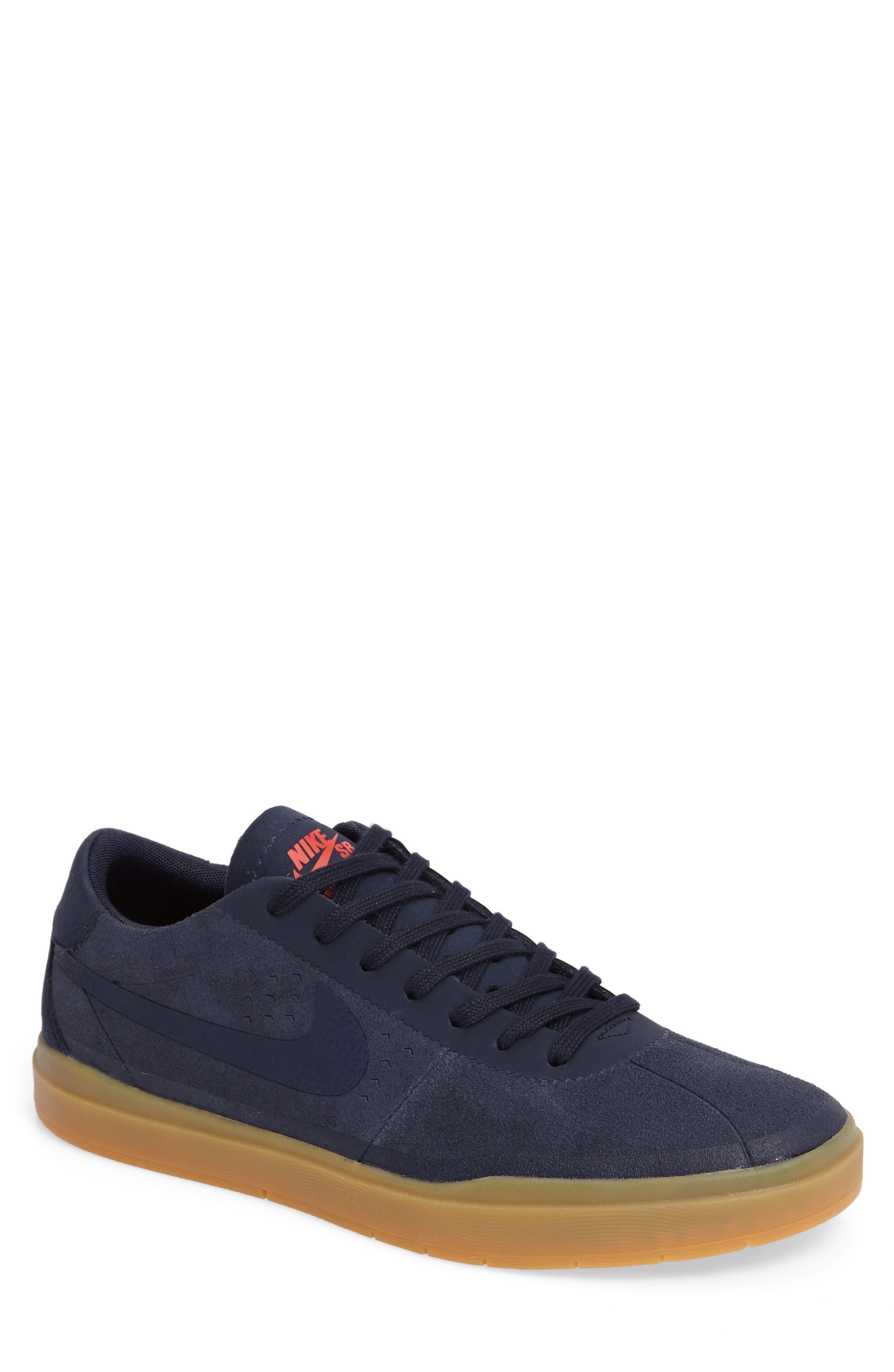 Bruin SB Hyperfeel Skate Shoe,                         Main,                         color, Obsidian/ Obsidian/ Gum