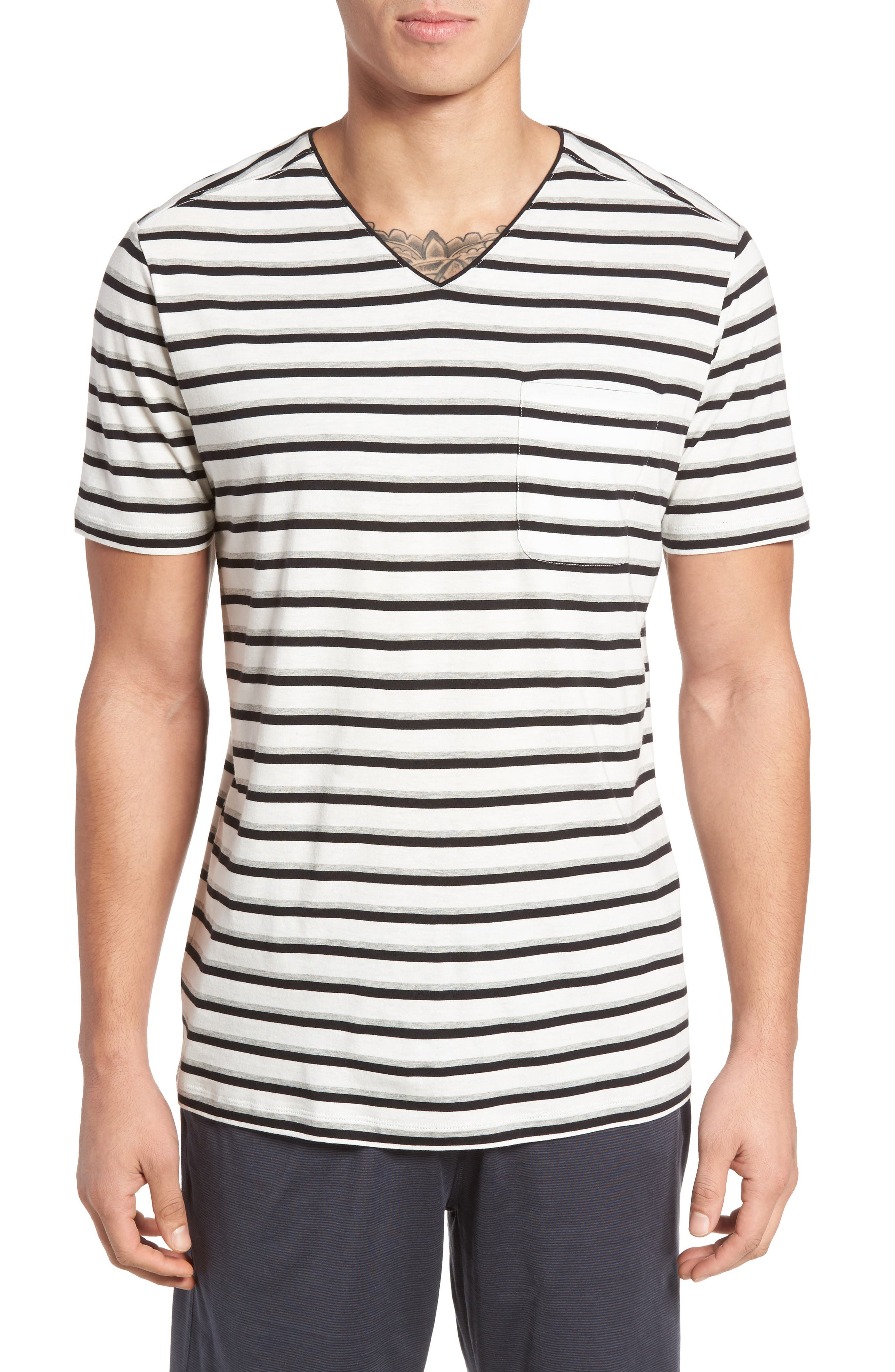 Daniel Buchler Pima Cotton & Modal V-Neck T-Shirt