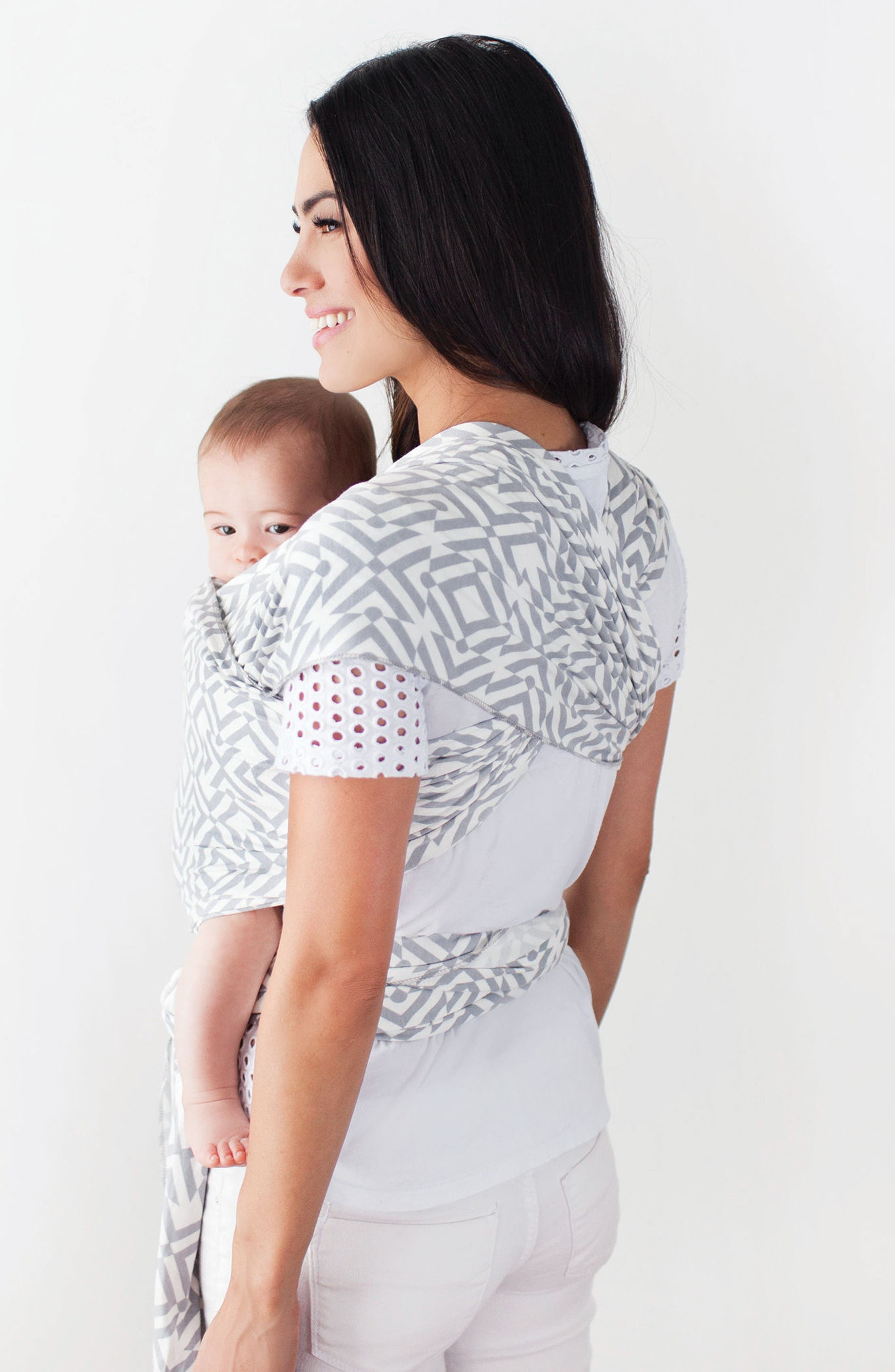 Wrap x Petunia Pickle Bottom Baby Carrier,                             Alternate thumbnail 2, color,                             Grey/ White