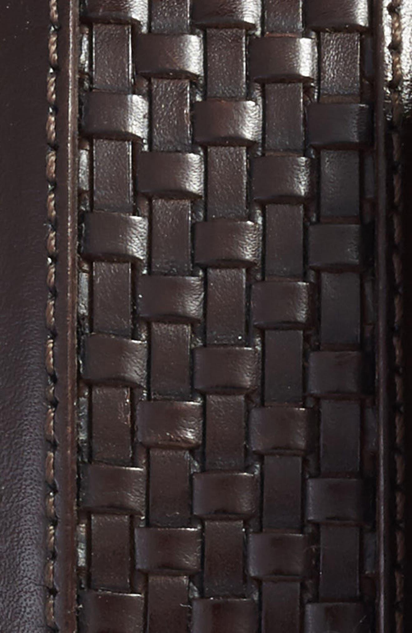 Parma Woven Leather Belt,                             Alternate thumbnail 2, color,                             Brown