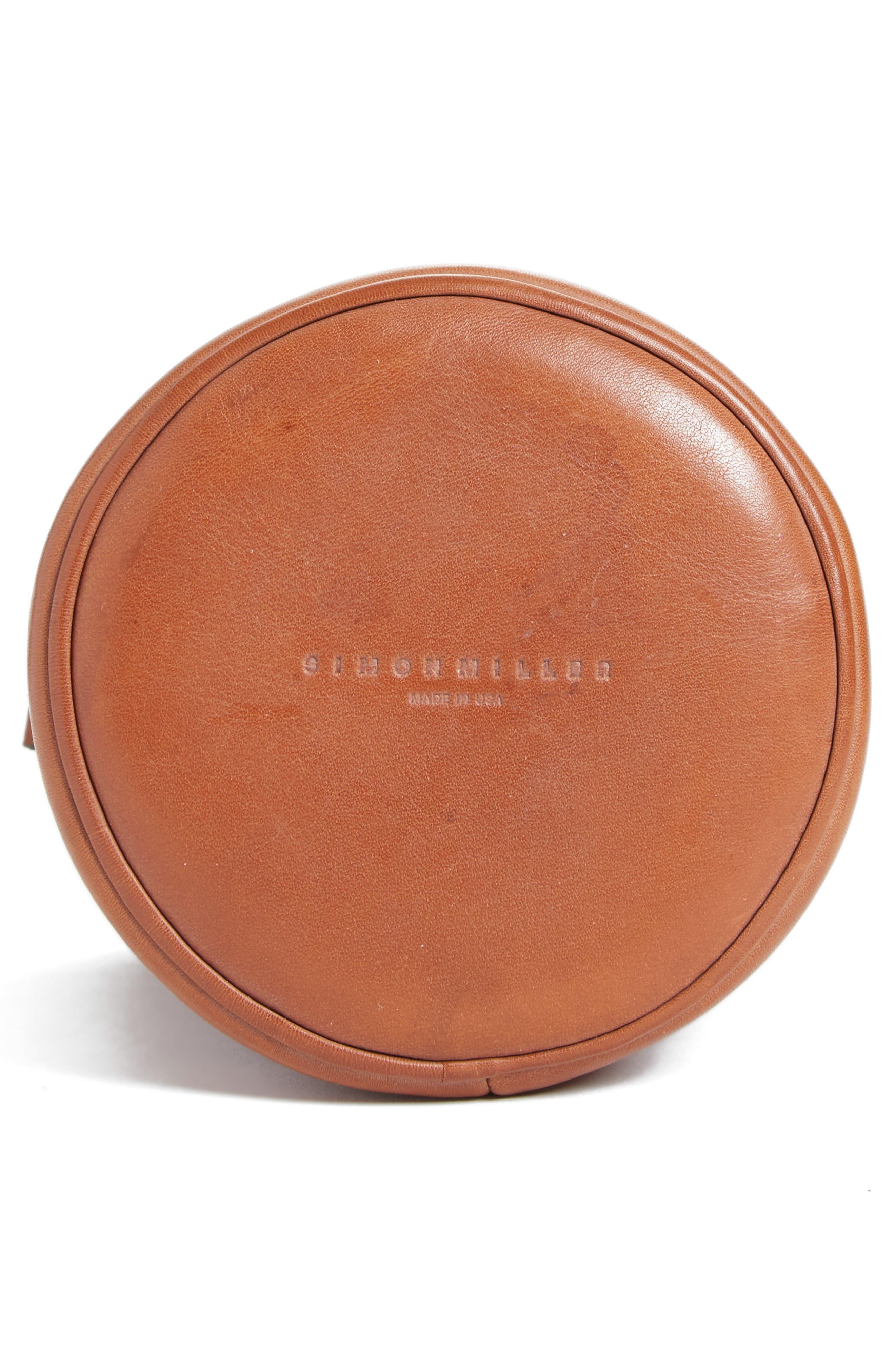 Bonsai Pebbled Leather Bucket Bag,                             Alternate thumbnail 6, color,                             Tan